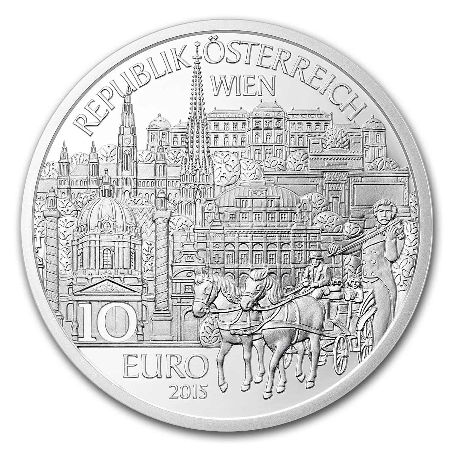 2015 Austria Proof Silver €10 Piece by Piece (Vienna)