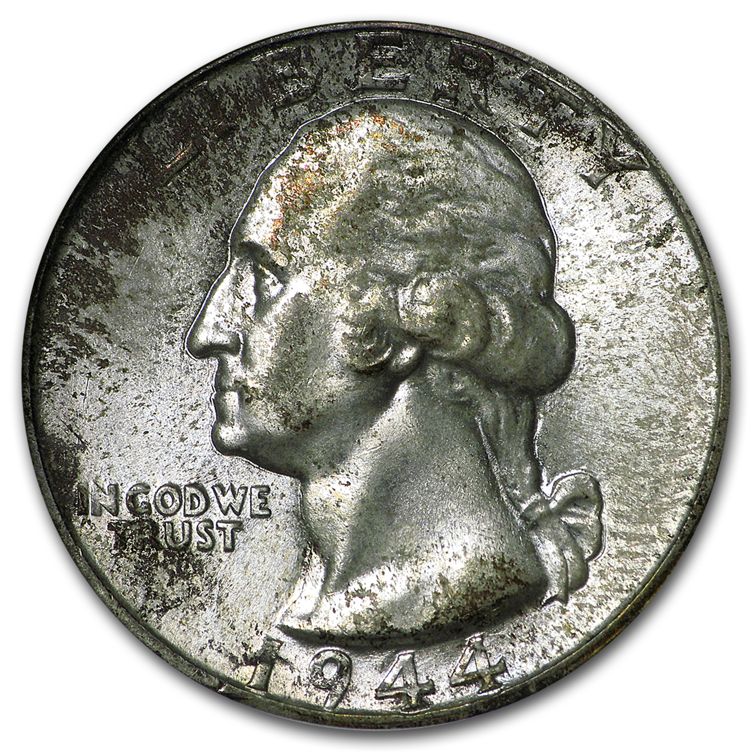 1944 Washington Quarter MS-67 NGC (Toned)