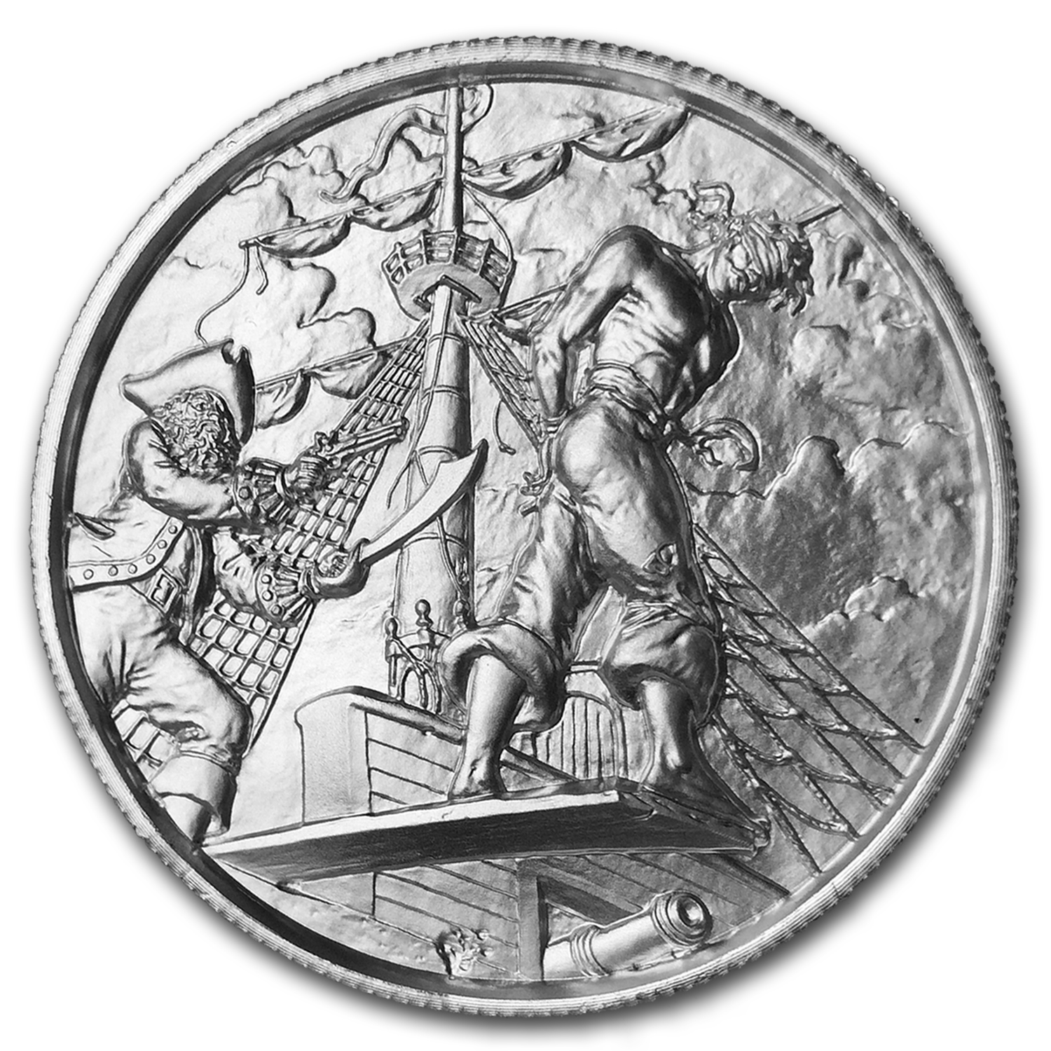 2 oz Silver Round - UHR Privateer Series (The Plank)