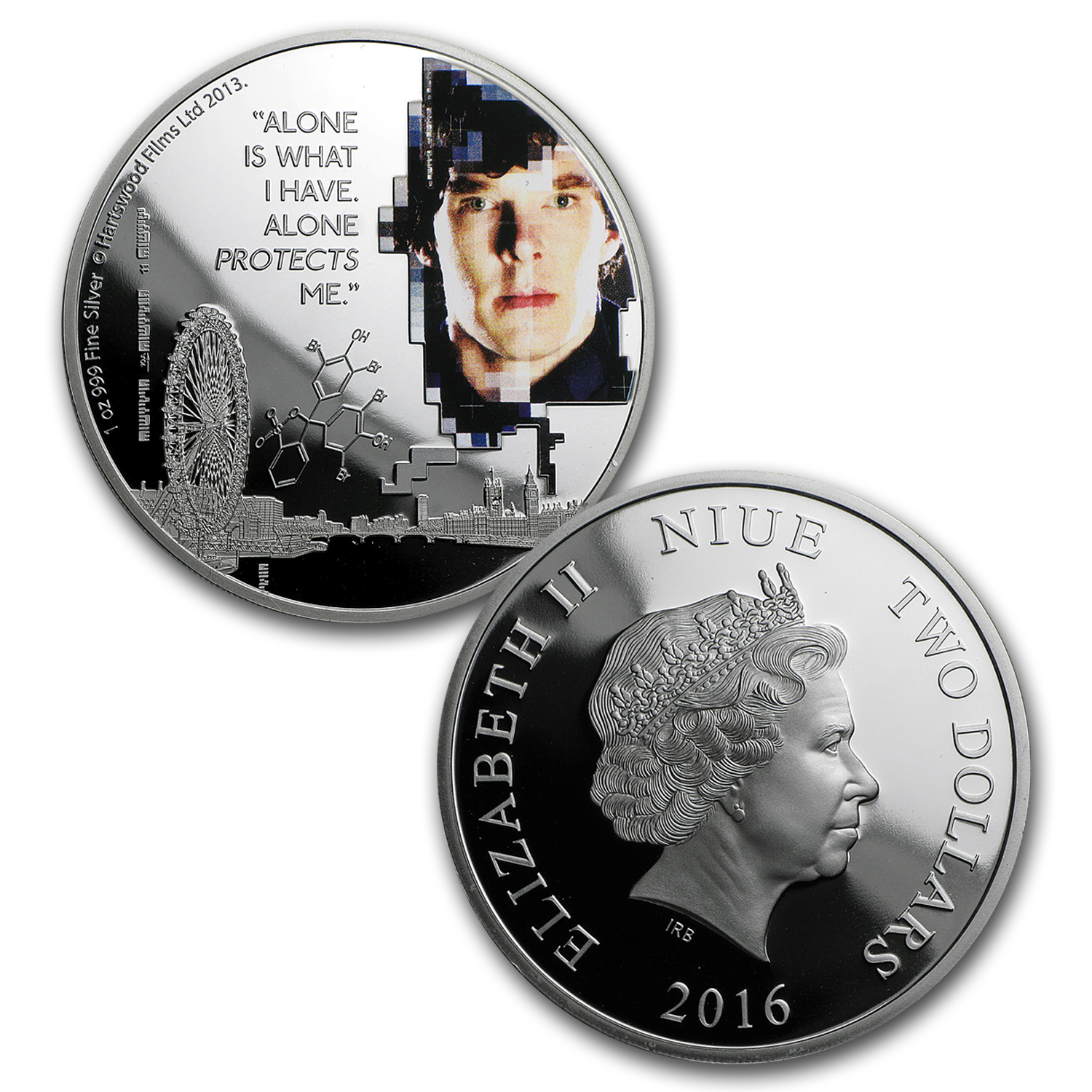2016 Niue 1 oz Silver 2-Coin Sherlock Holmes Proof Set