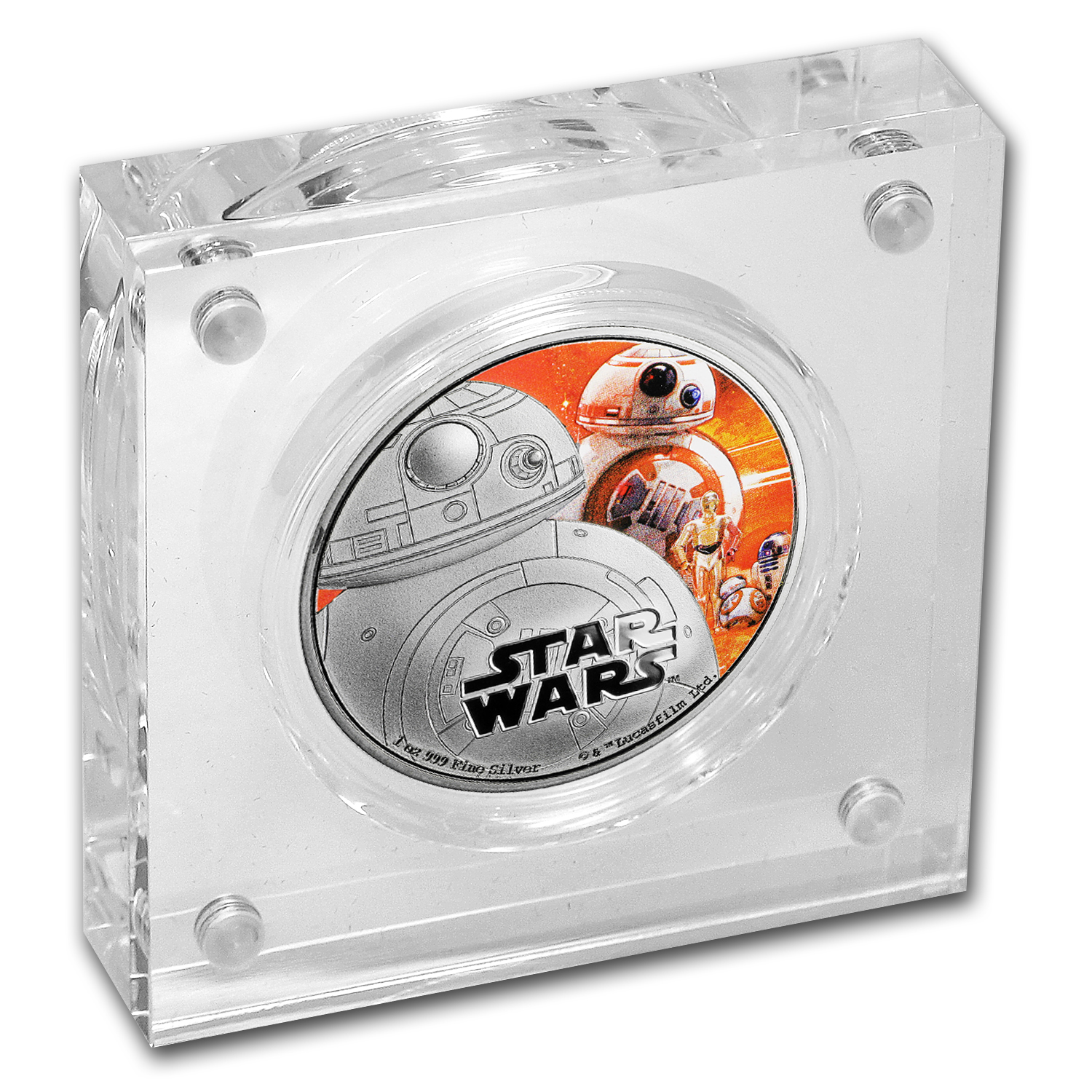 2016 Niue 1 oz Silver $2 Star Wars BB-8 (w/Box & COA)