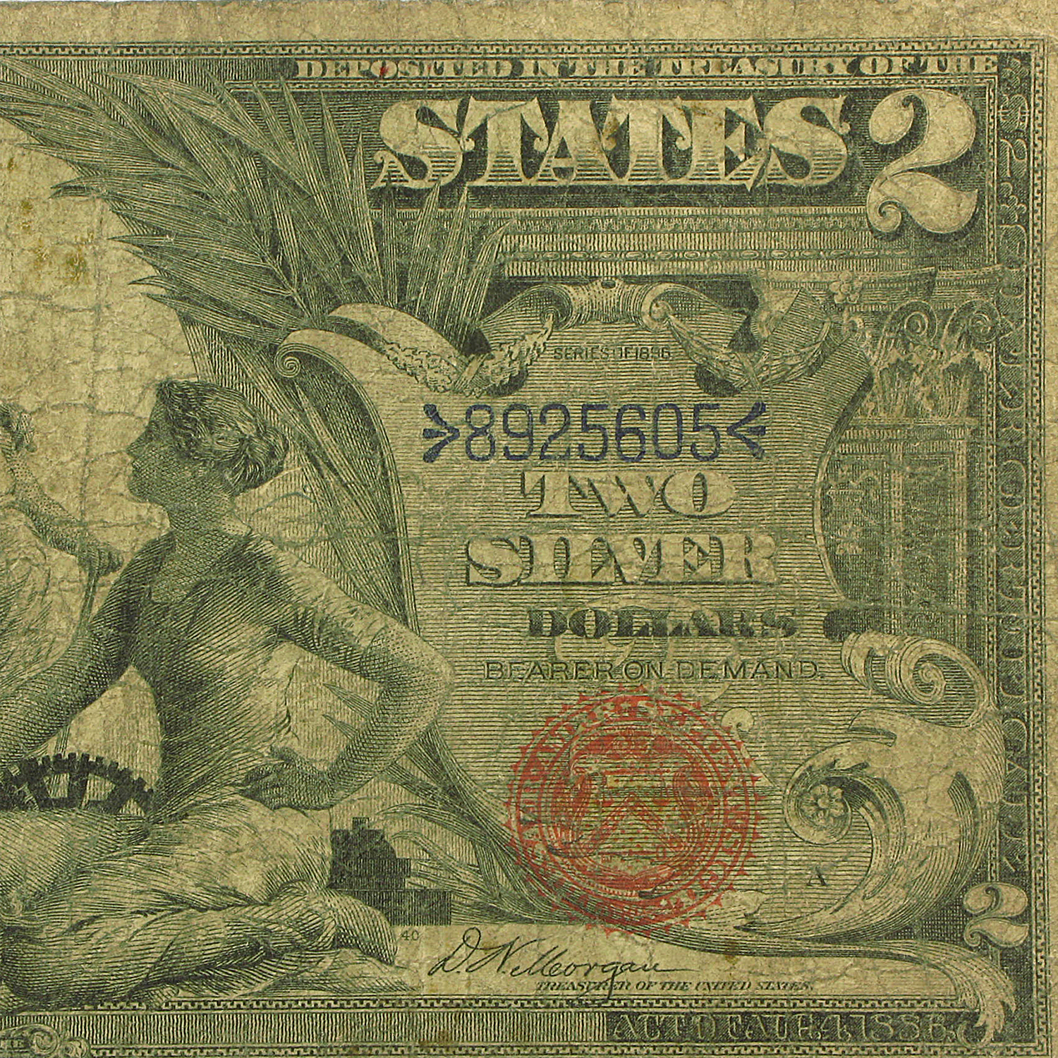 1896 $2.00 Silver Certificate Educational Note Good/VG