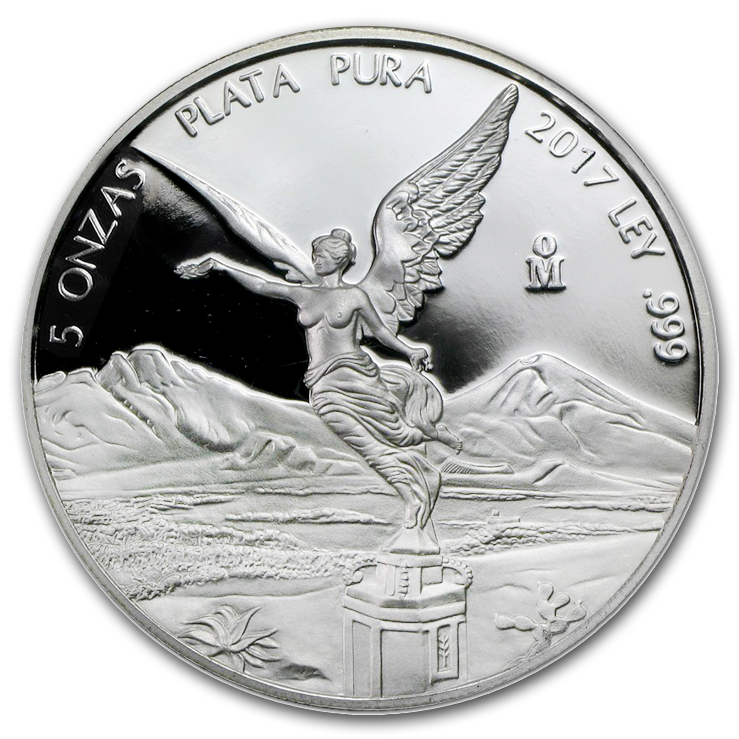 2017 Mexico 5 oz Silver Libertad Proof (In Capsule)