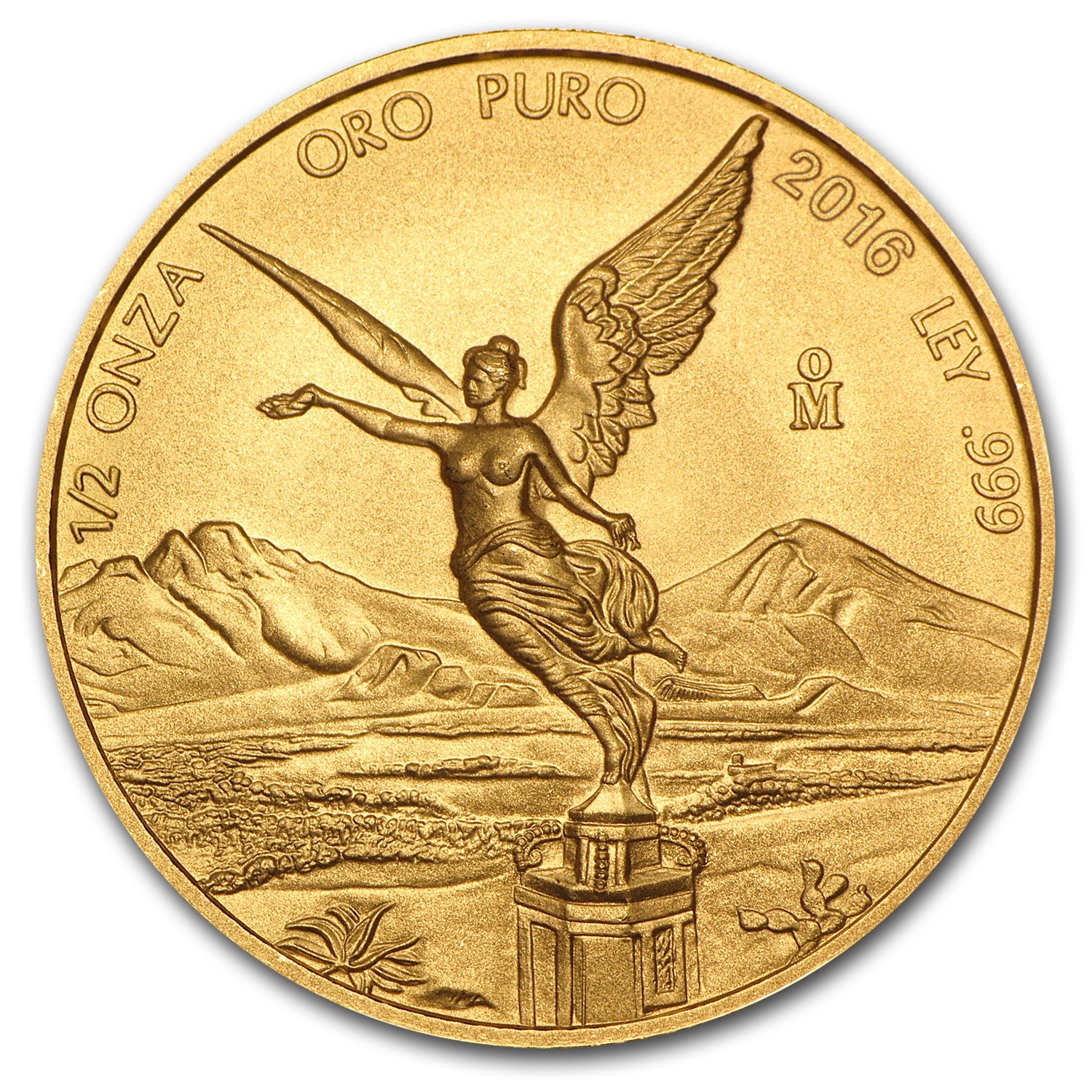 2016 Mexico 1/2 oz <BR> Gold Libertad BU