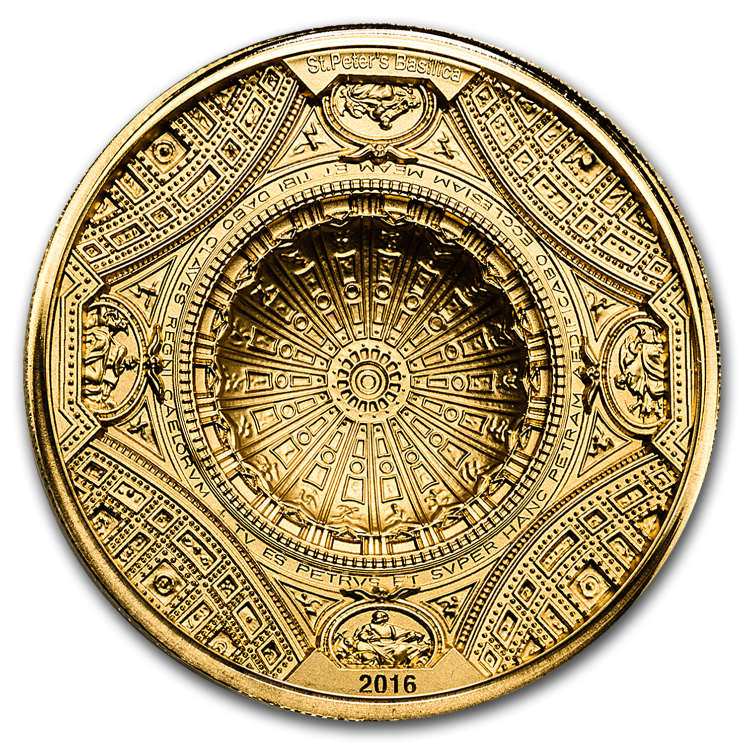 2016 Cook Islands 100 gram Gold St. Peter's Basilica 4-Layer Coin