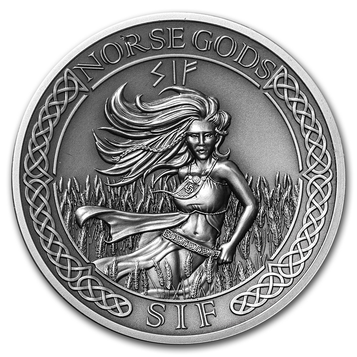 2016 Cook Islands 2 oz Silver High Relief Norse Gods: Sif