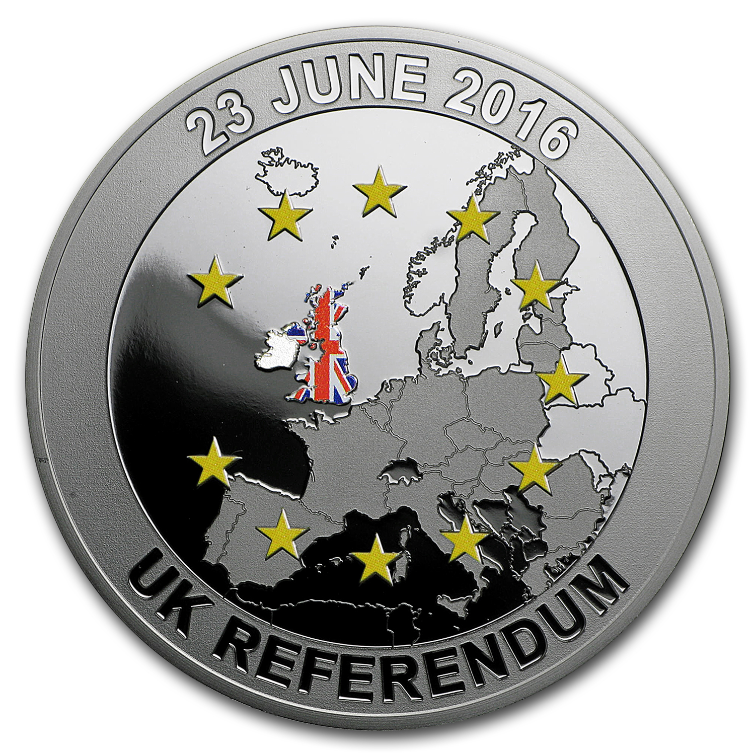 2016 Solomon Islands 1 oz Silver Proof Brexit Coin