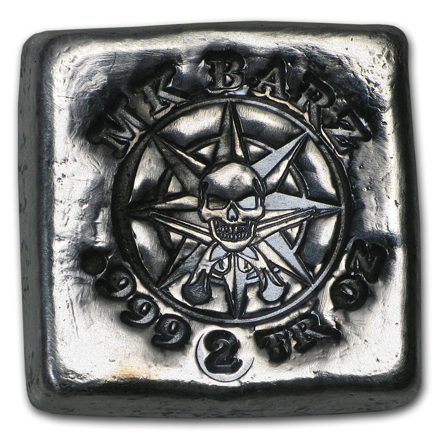 2 oz Silver Square - MK Barz & Bullion (Pirate Compass)