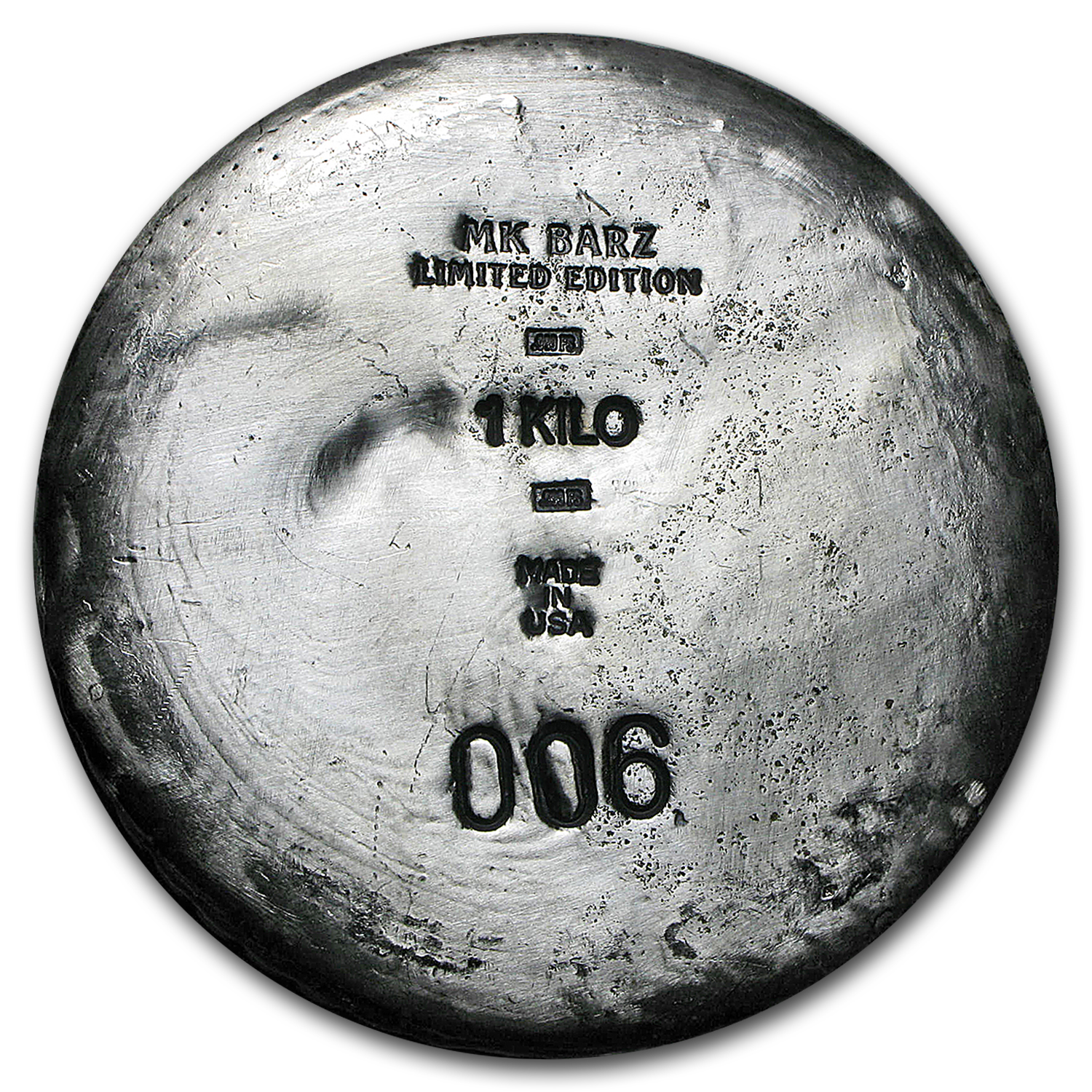1 kilo Silver Round - (Skull, Ultra High Relief)