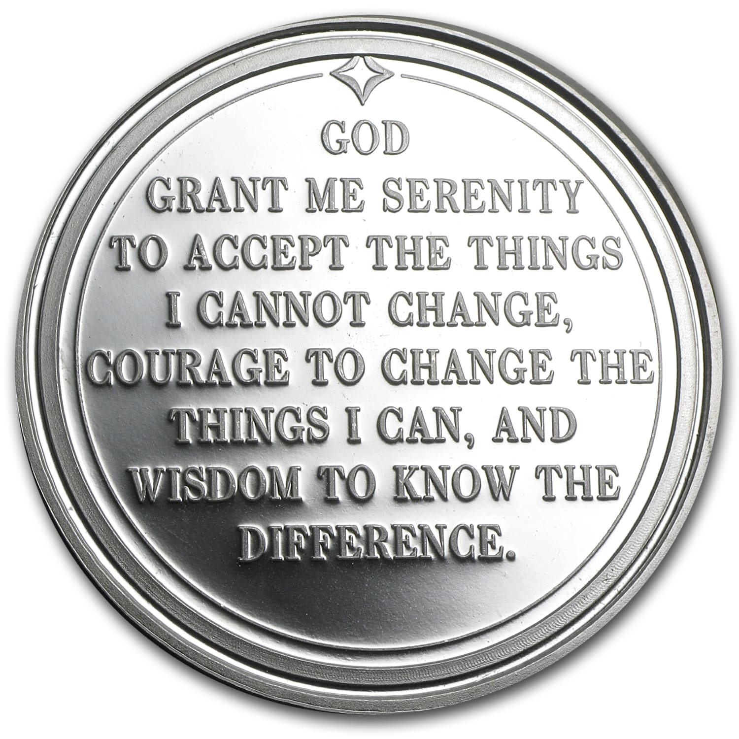 1 oz Silver Round - Serenity Prayer