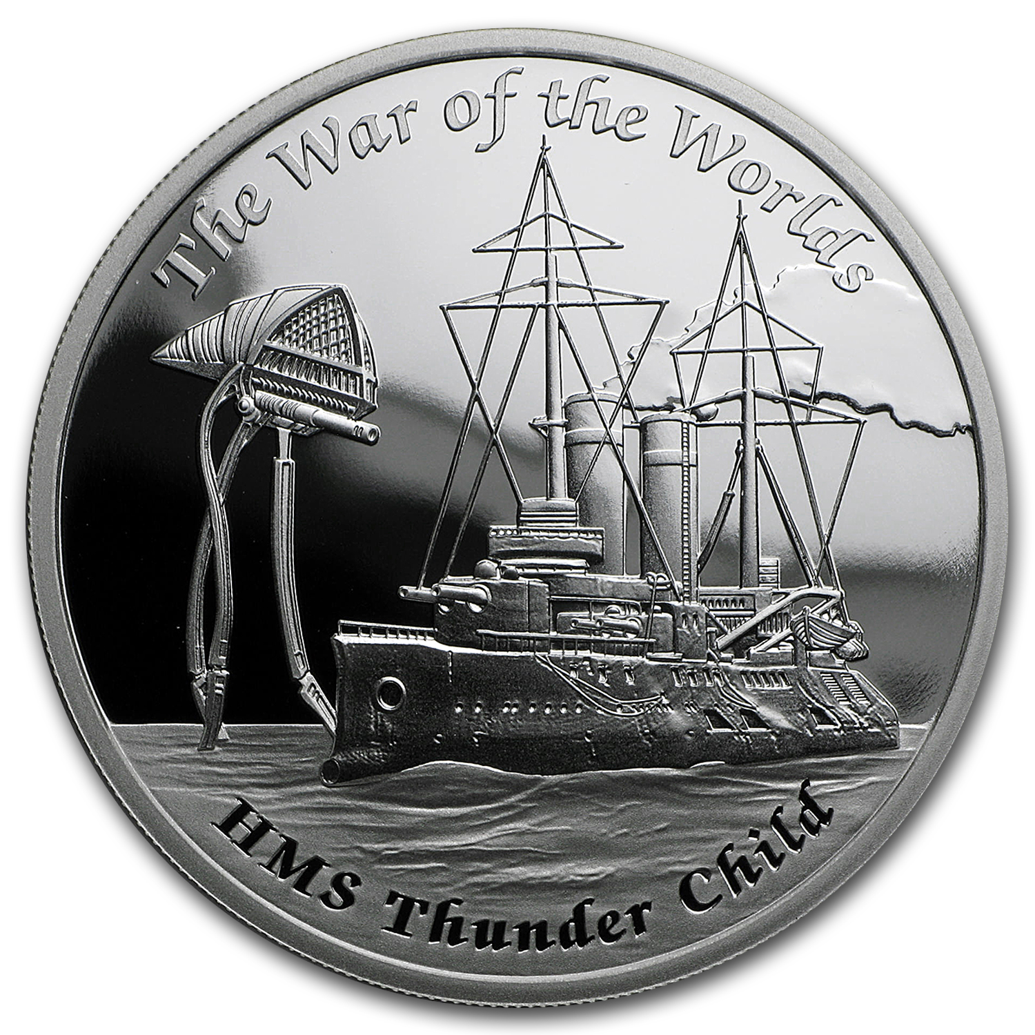 2016 Tuvalu 1 oz Silver War of the Worlds (Fantasy Ships)