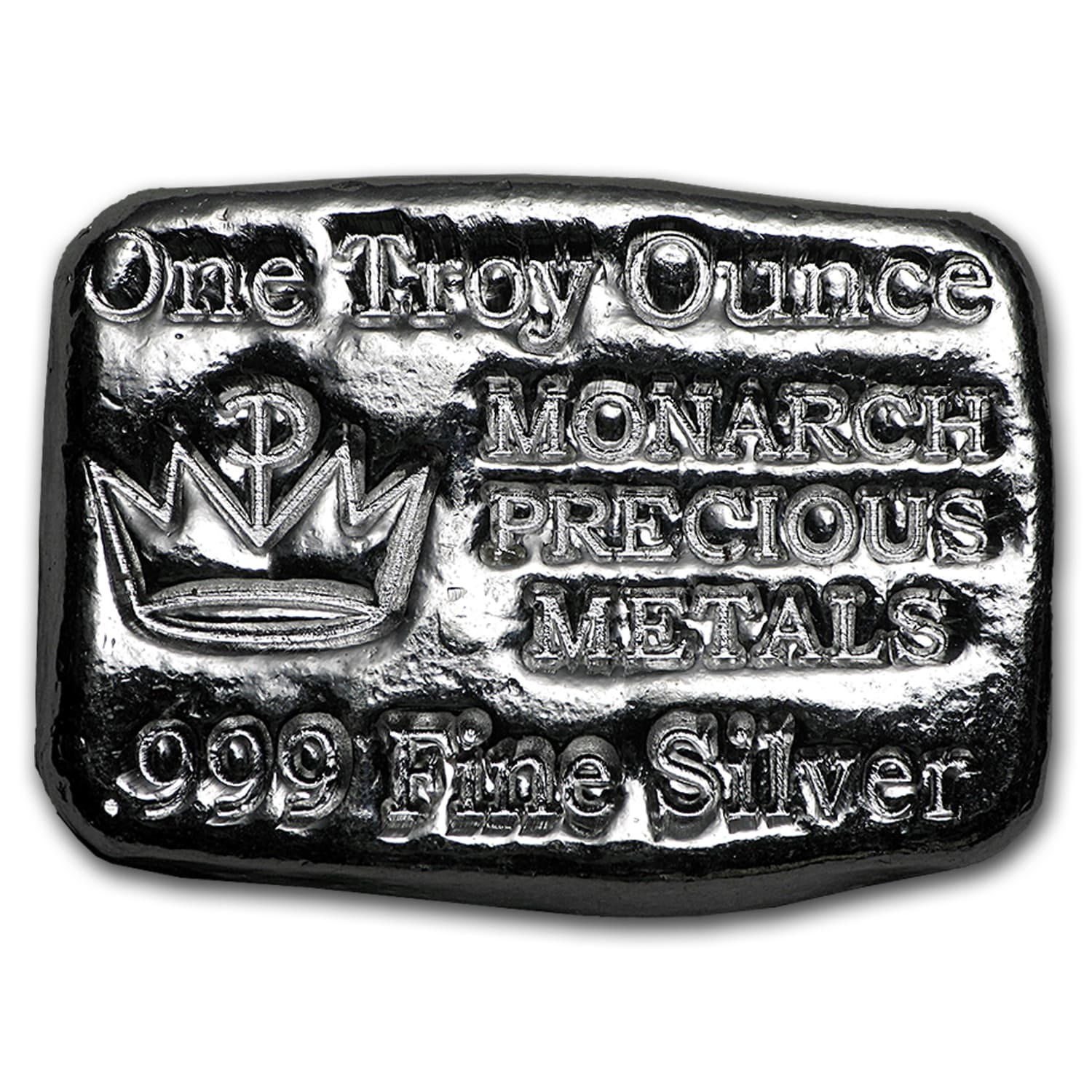 1 oz Silver Bar - Monarch Precious Metals