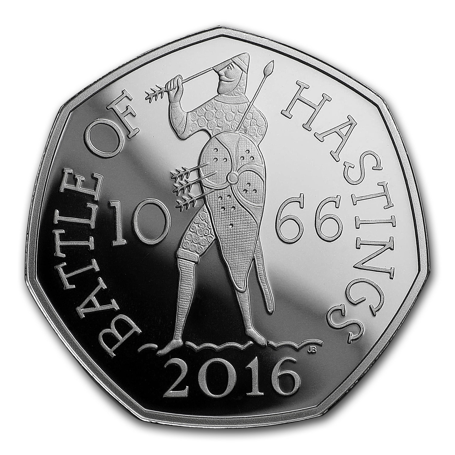 2016 GB 50 Pence Silver Battle of Hastings Proof Piedfort