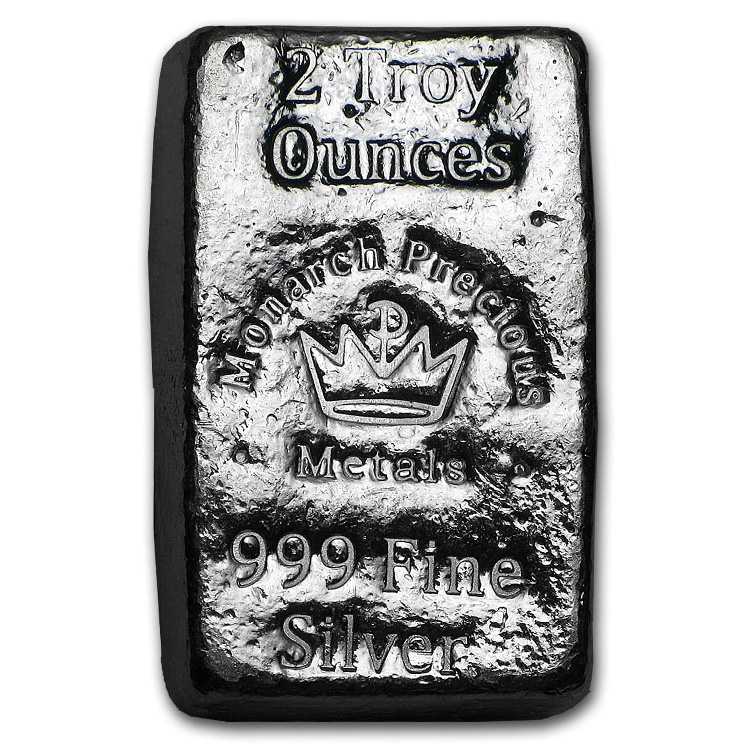 2 oz Silver Bar - Monarch Precious Metals