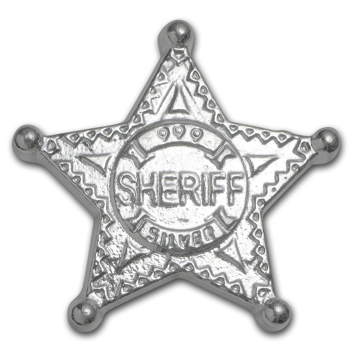 5 oz Silver Bar - Monarch Sheriff Badge