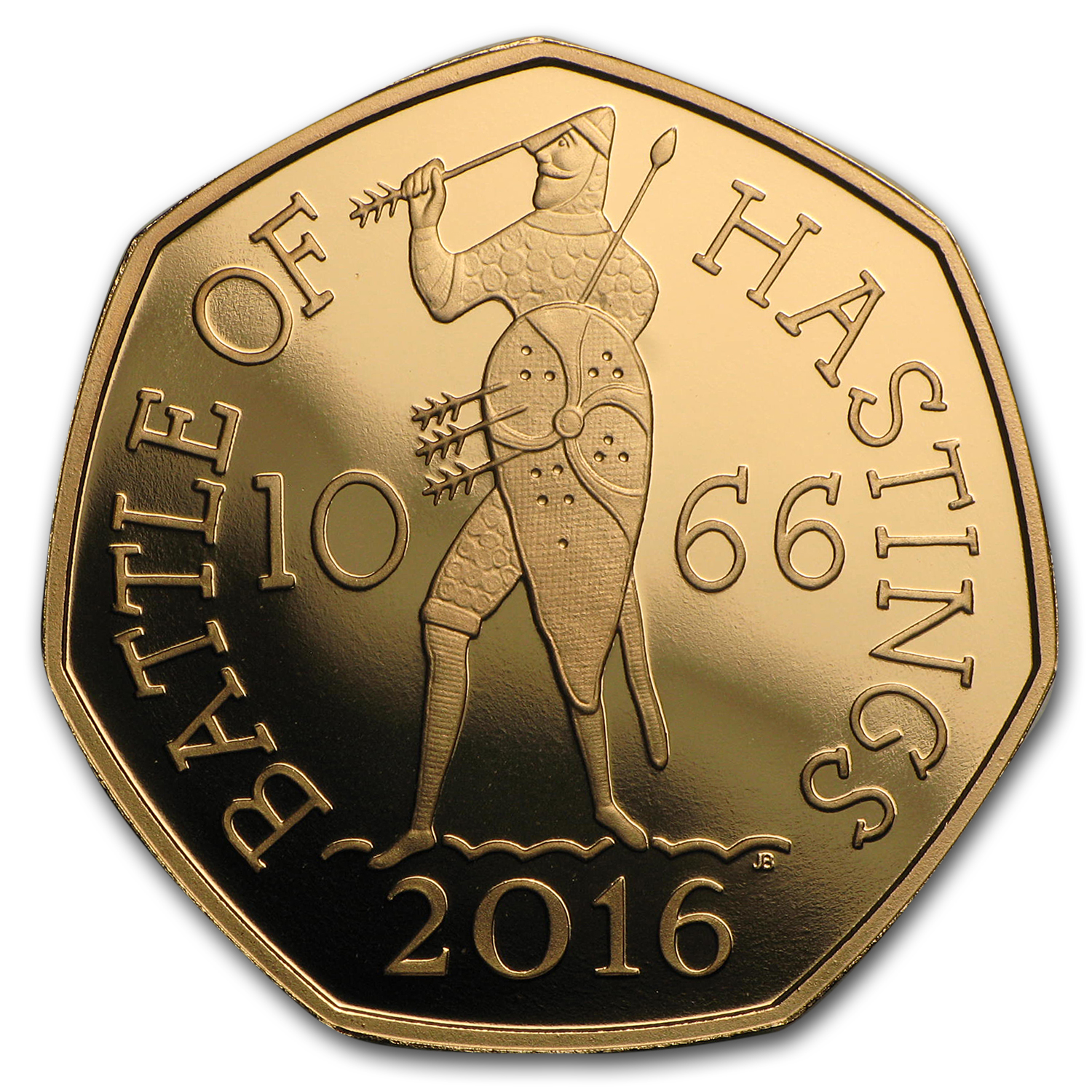2016 Great Britain 50 Pence Gold Battle of Hastings Proof