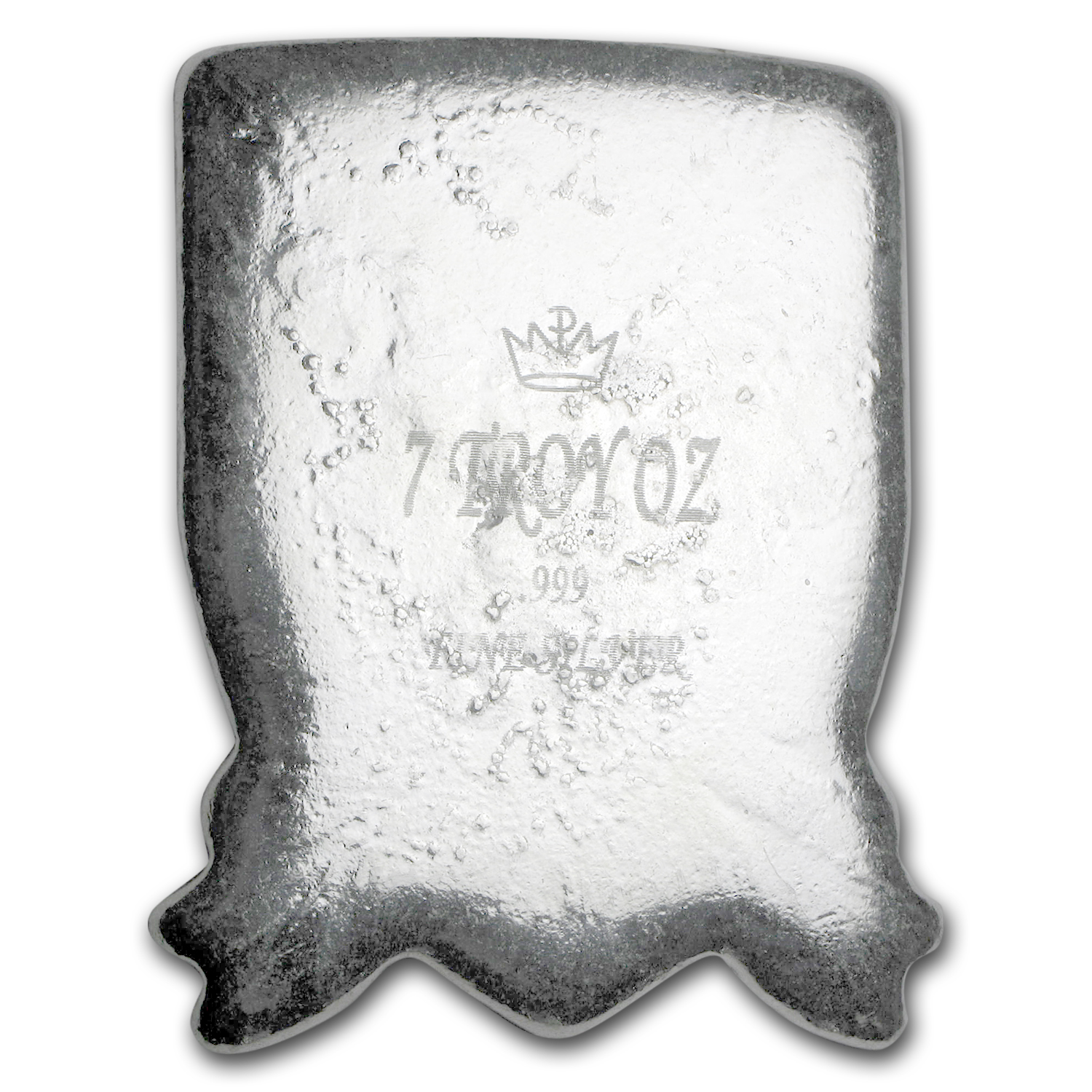 7 oz Silver - Monarch Jolly Roger Pirate Shield