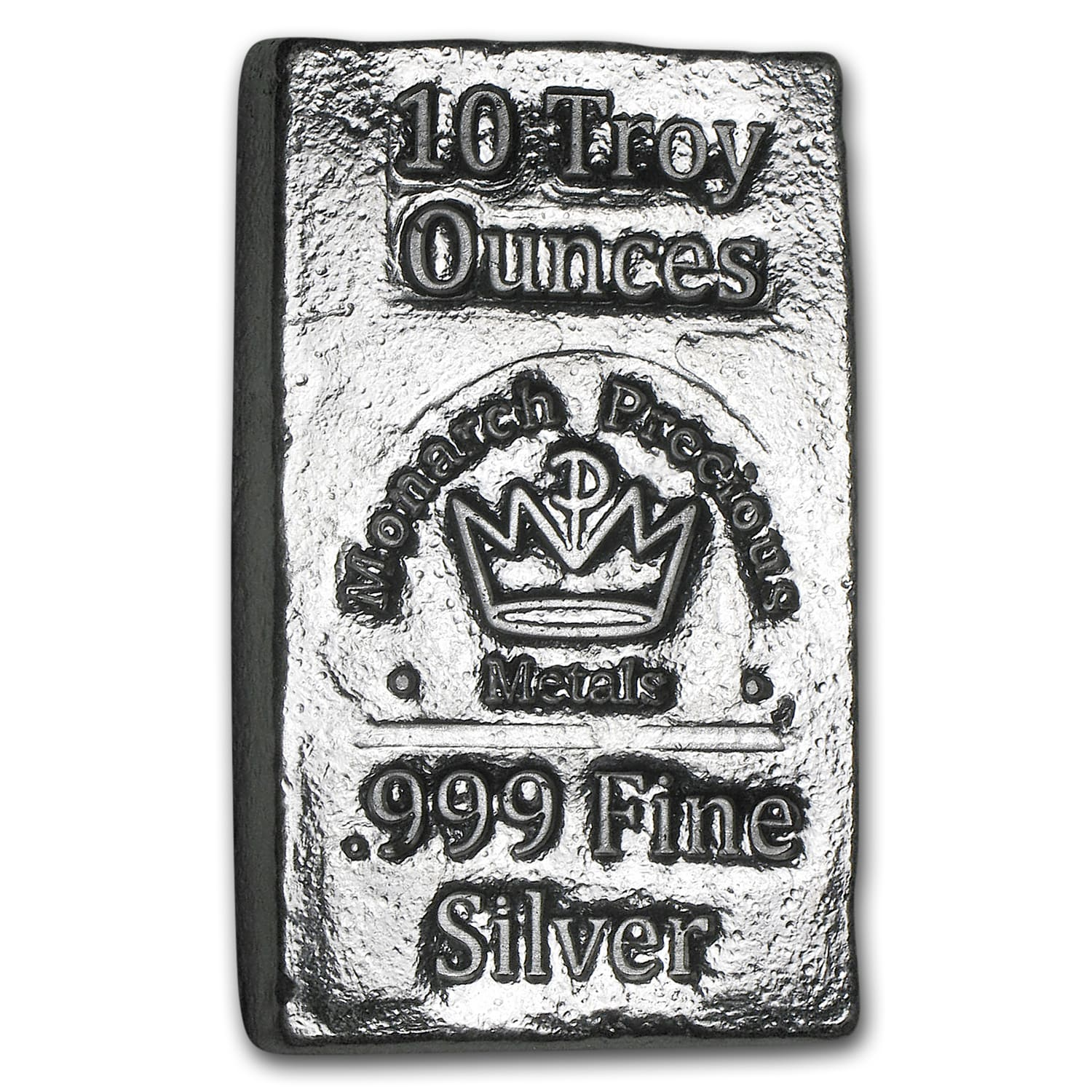 10 oz Silver Bar - Monarch Precious Metals