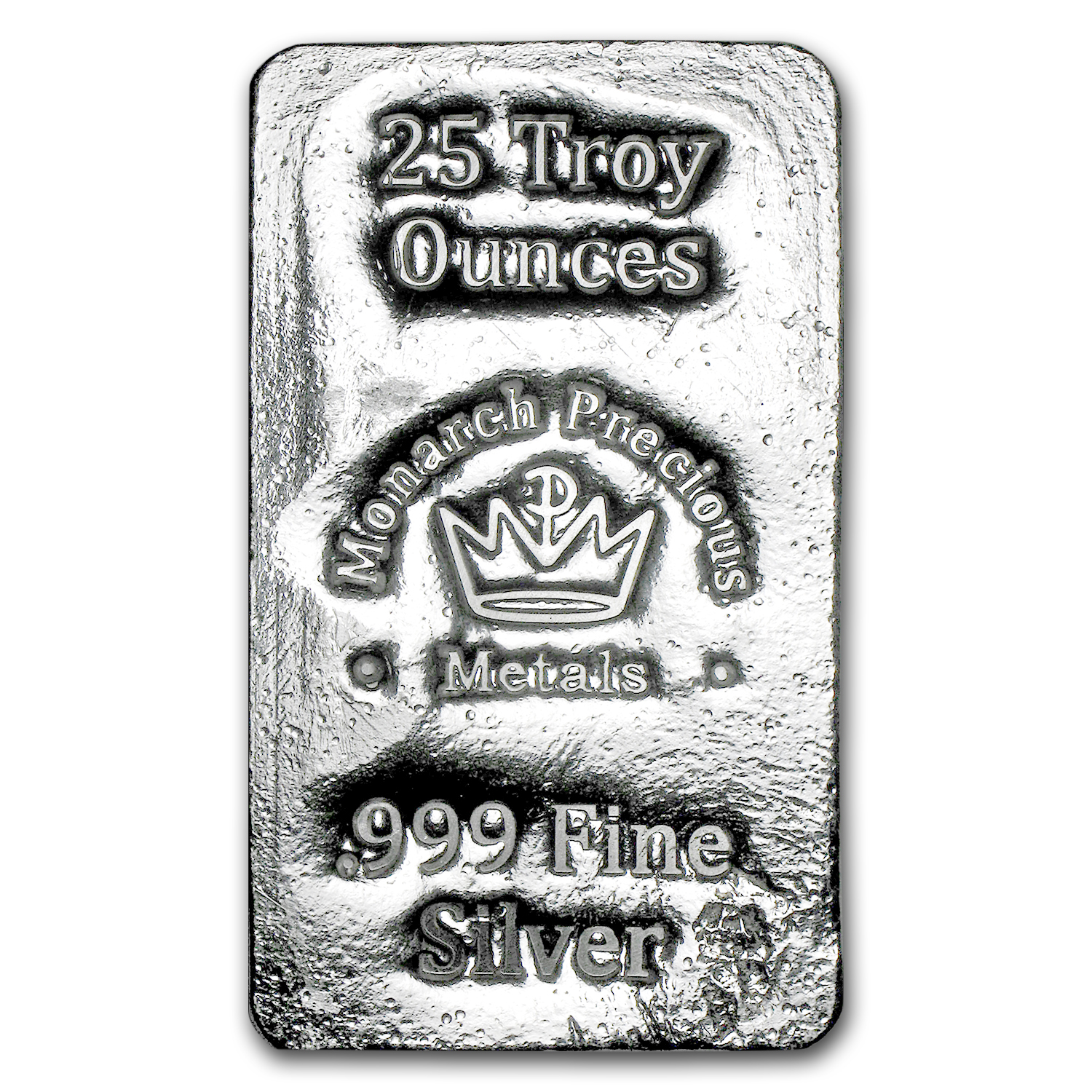 25 oz Silver Bar - Monarch Precious Metals