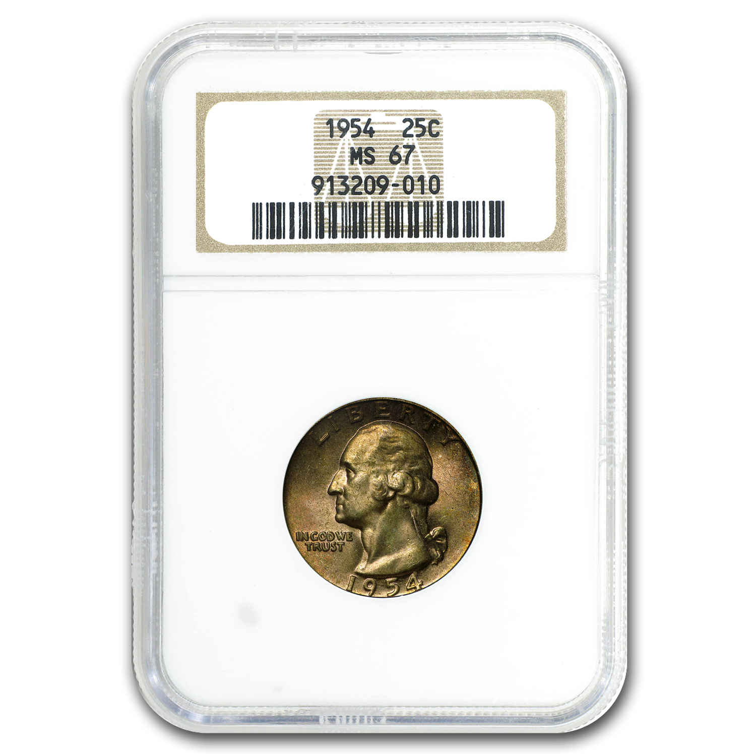 1954 Washington Quarter MS-67 NGC (Toned)