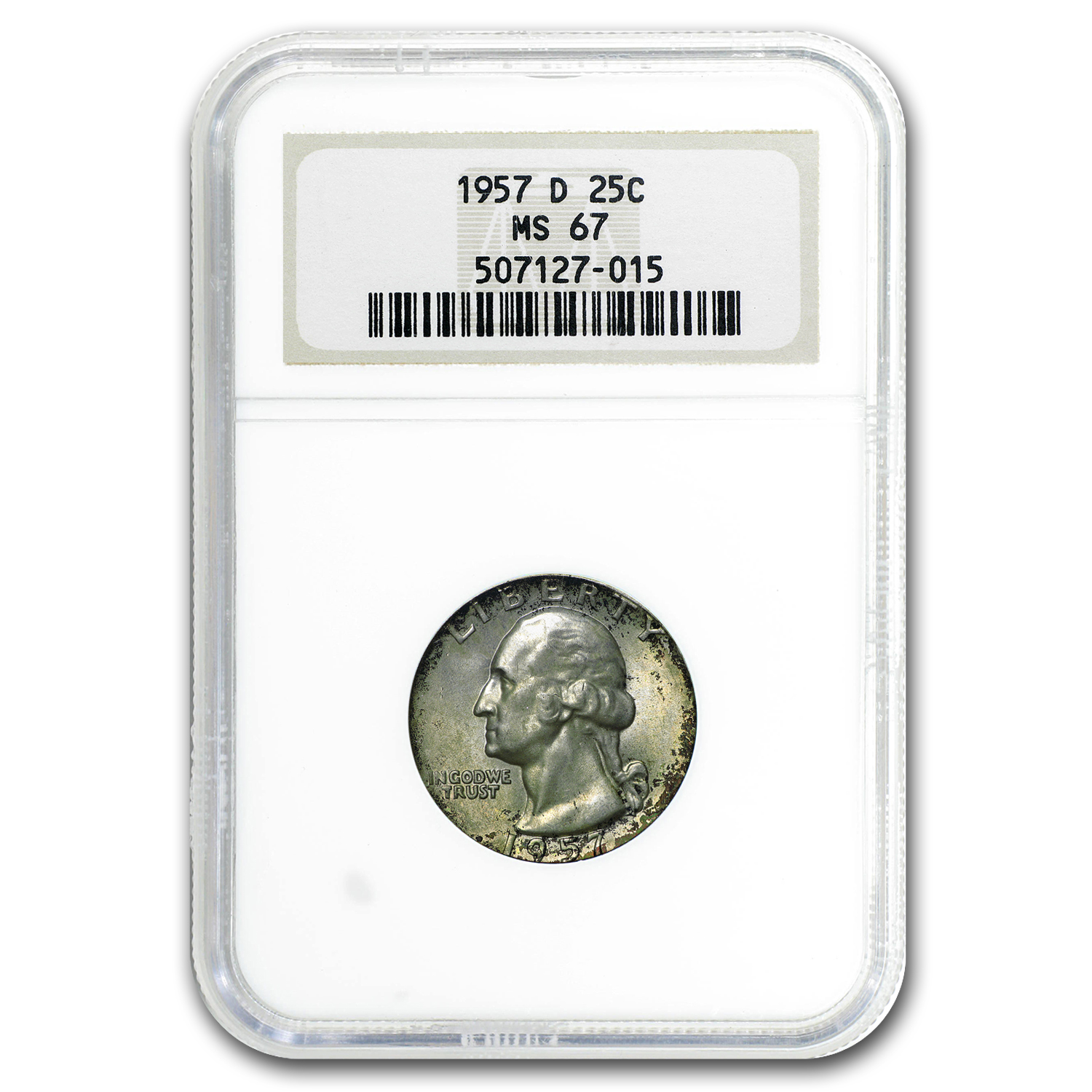 1957-D Washington Quarter MS-67 NGC (Toned)
