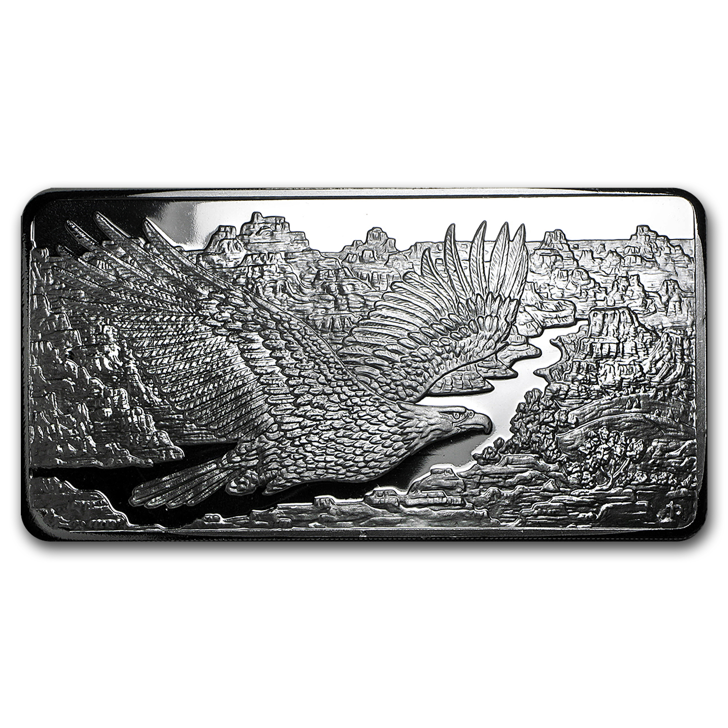 10 oz Silver Bar - Republic Metals Corp. Eagle Design (RMC)