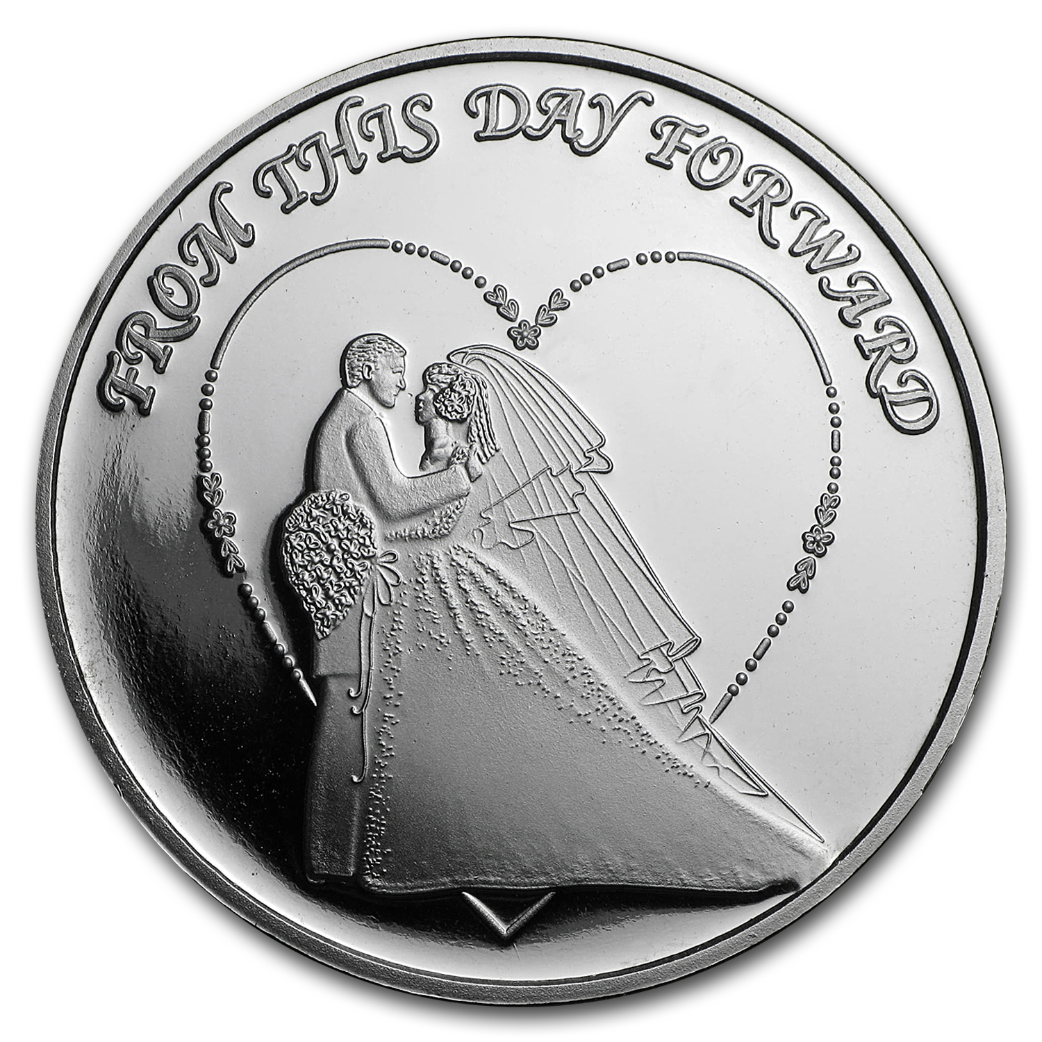 1 oz Silver Round - 2016 Wedding