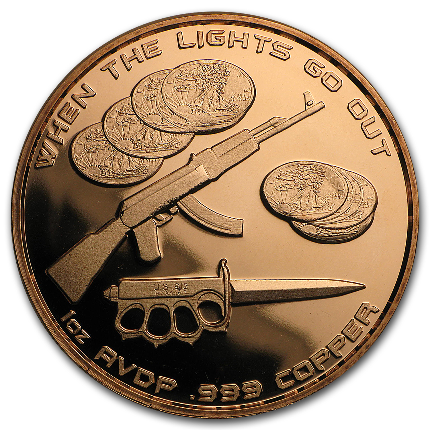 1 oz Copper Round - Death From Above (Anonymous Mint)