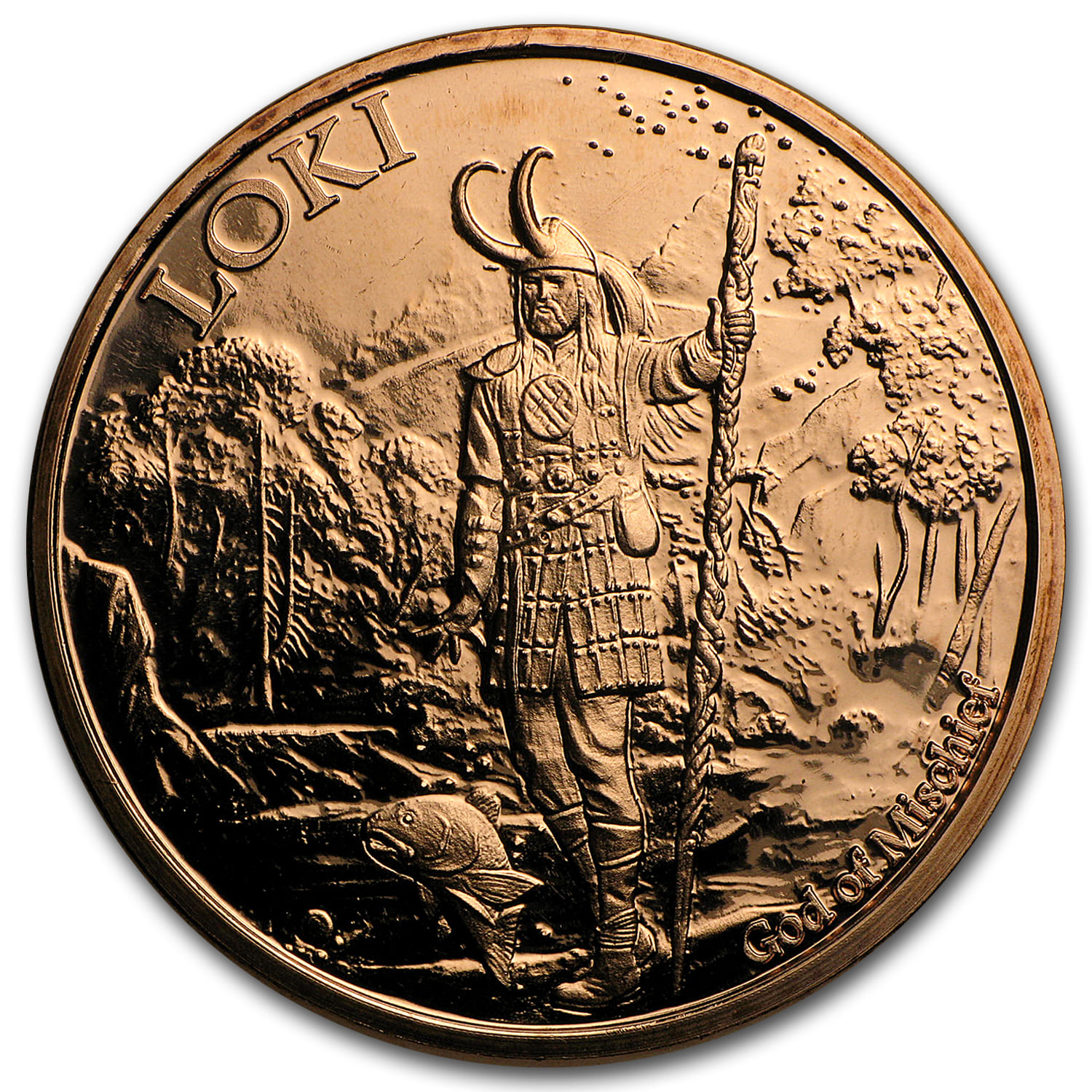 1 oz Copper Round - Loki God of Mischief (Anonymous Mint)
