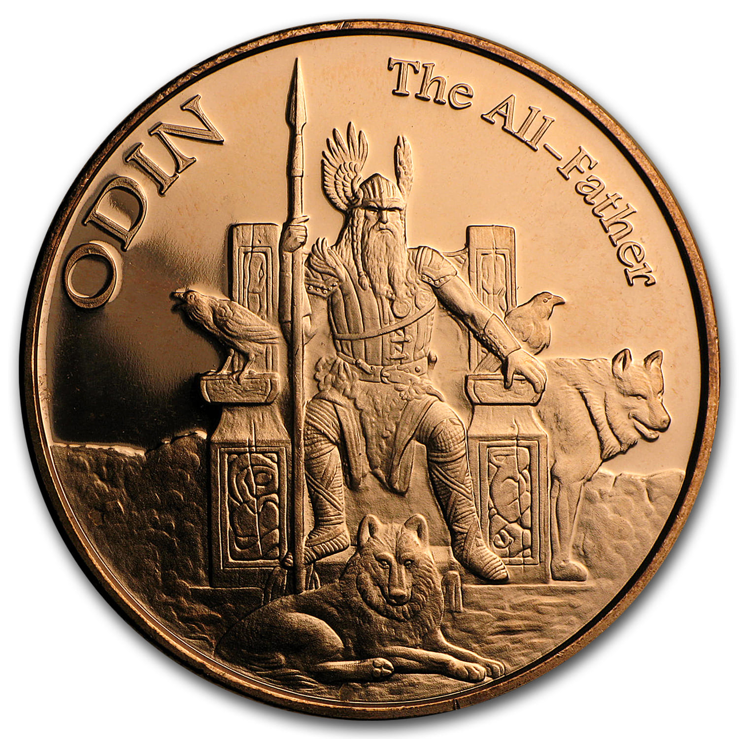 1 oz Copper Round - Odin The All-Father (Anonymous Mint)