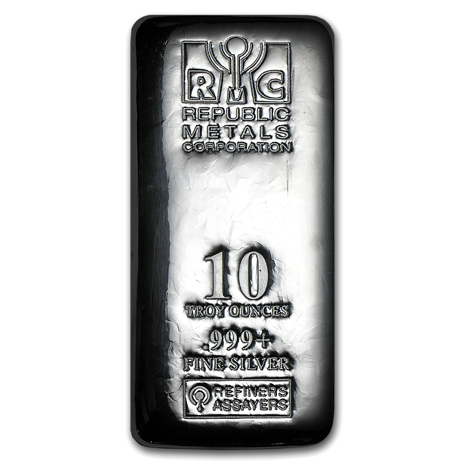 10 oz Silver Bar - Republic Metals Corporation (Cast)