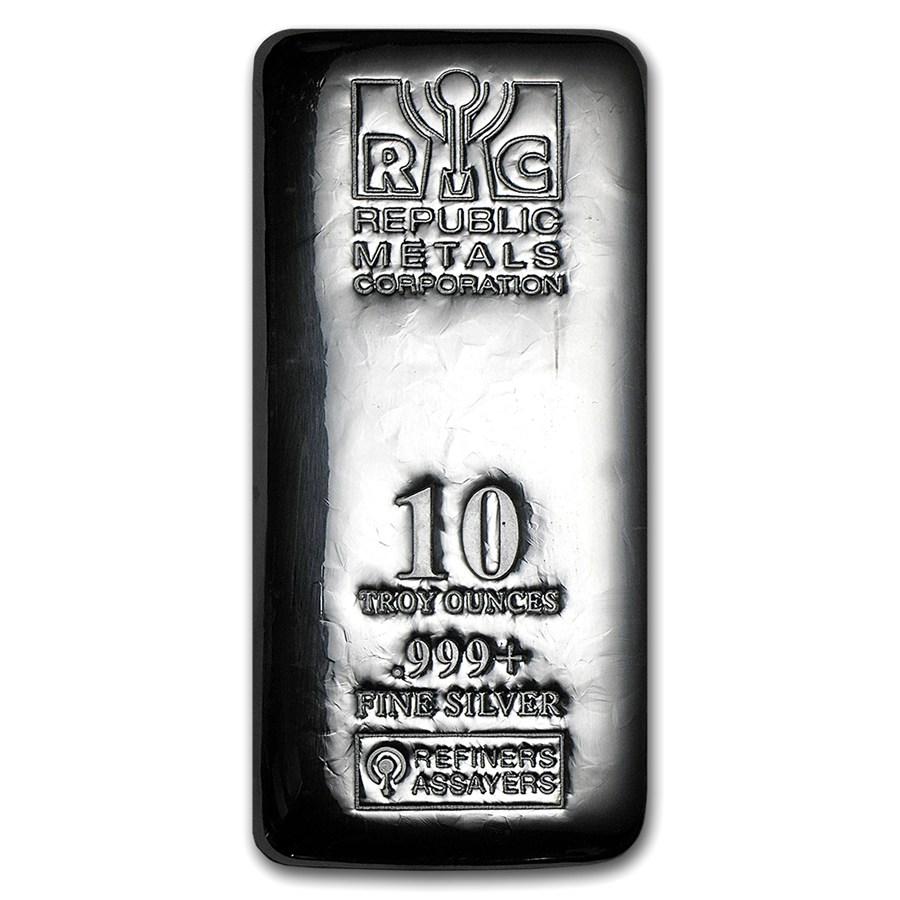 Cast Of Silver : Oz silver bar rmc cast republic metals corp