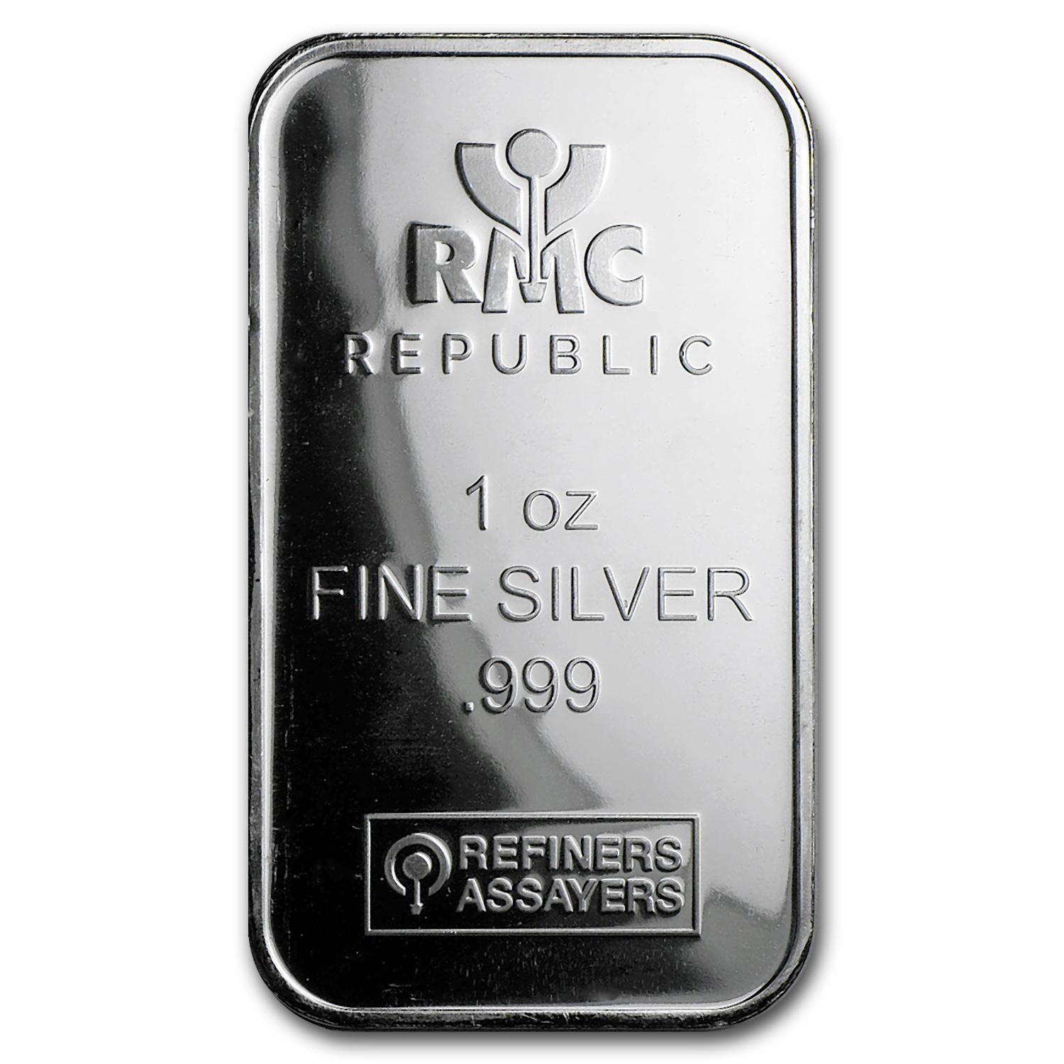 1 oz Silver Bar - Republic Metals Corporation (RMC)