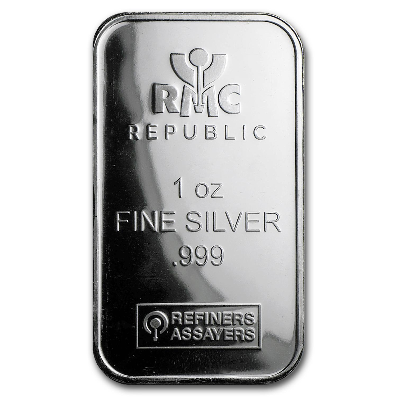 1 Oz Silver Bar Republic Metals Corp Republic Metals