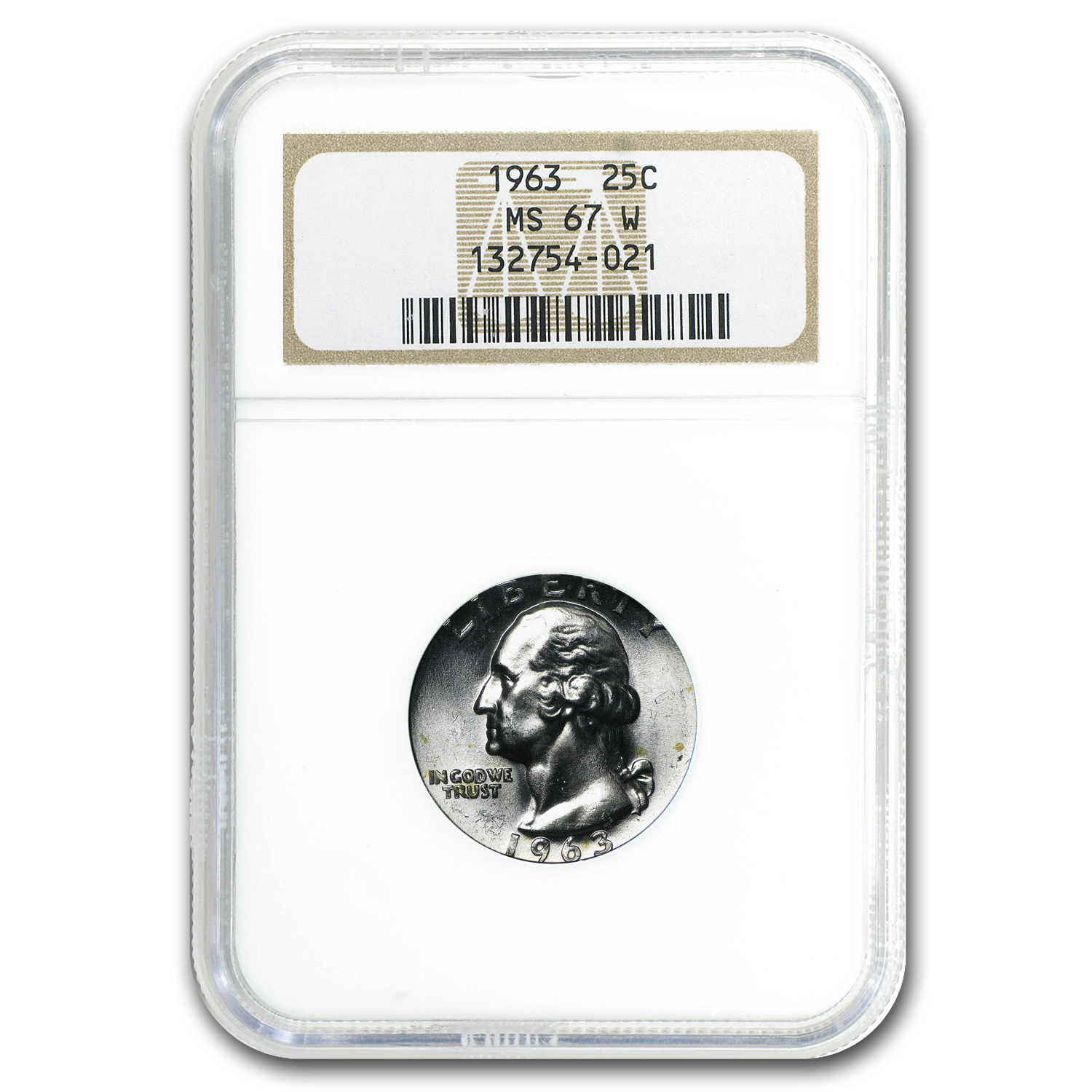1963 Washington Quarter MS-67 NGC