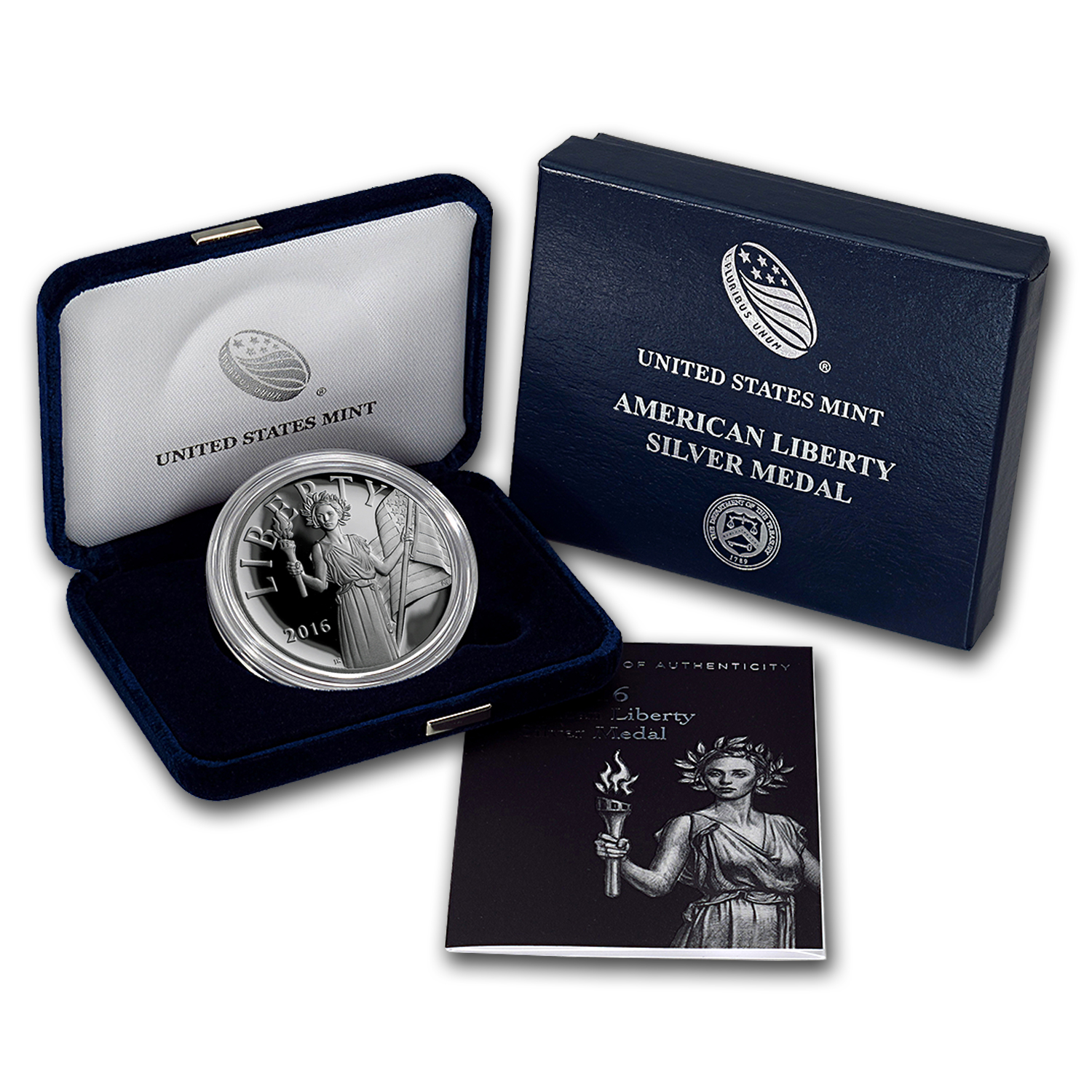 2016-W American Liberty Silver Medal Proof (w/Box & COA)
