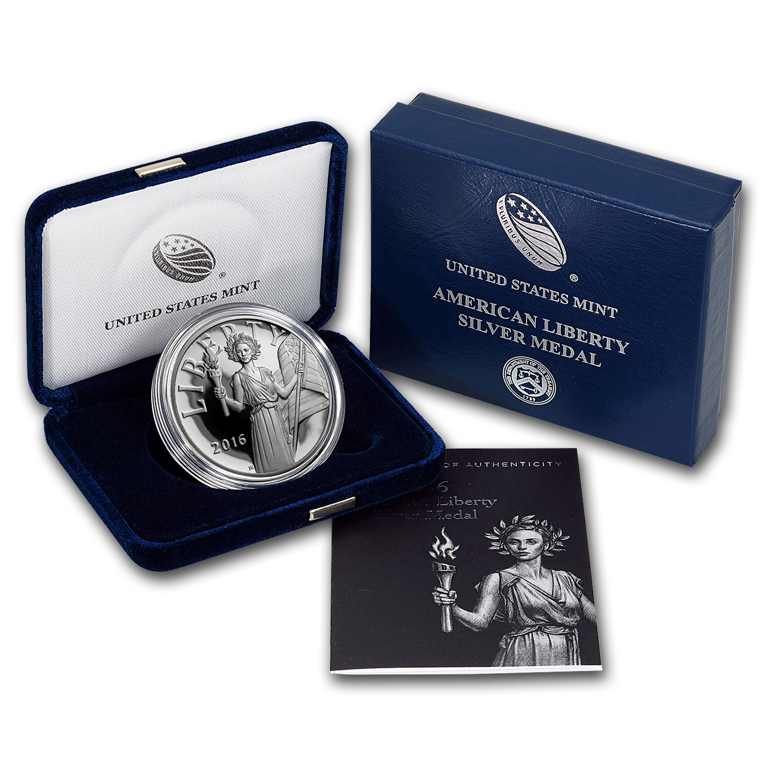 2016-S American Liberty Silver Medal Proof (w/Box & COA)