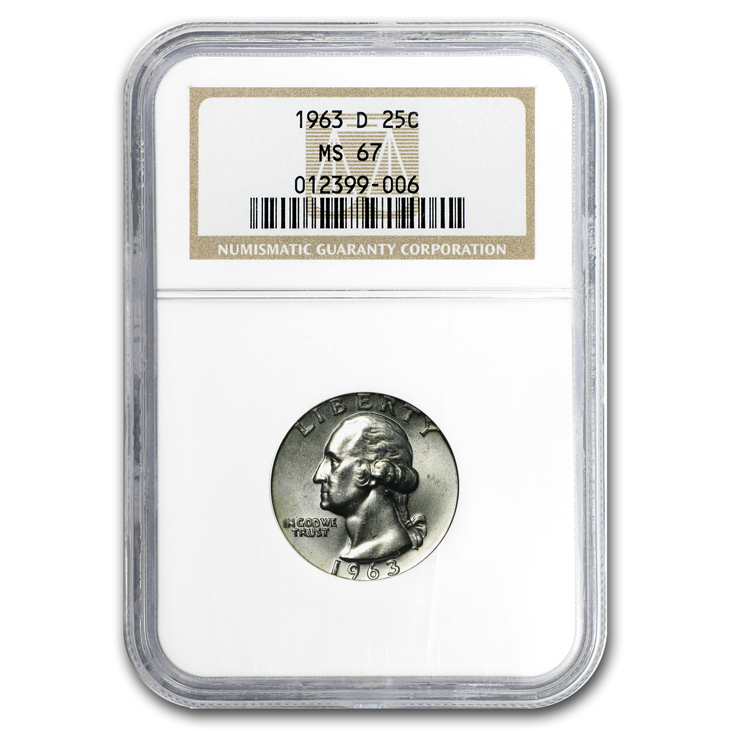 1963-D Washington Quarter MS-67 NGC