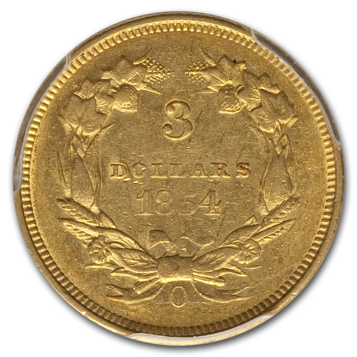 1854-O $3 Gold Princess AU-53 PCGS