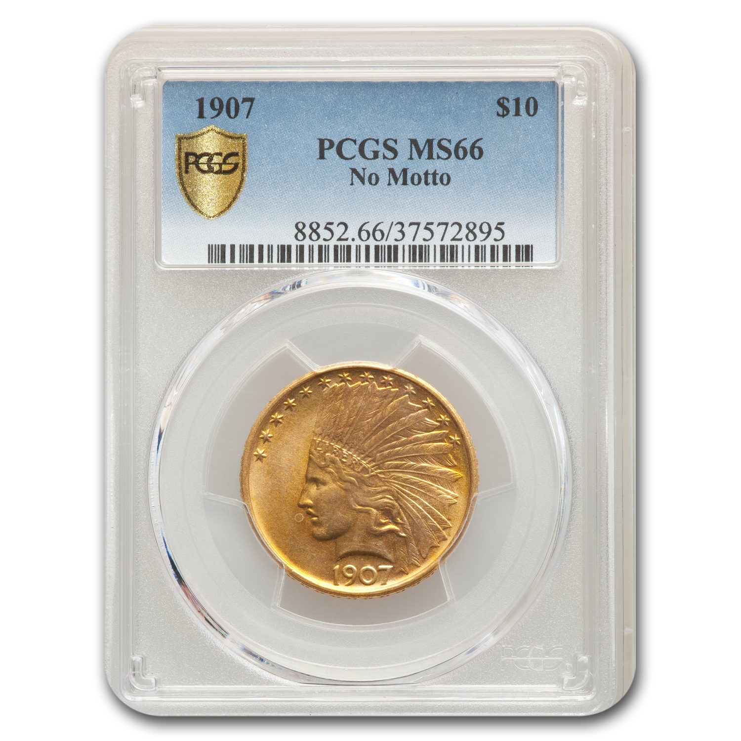 1907 $10 Indian Gold Eagle MS-66 PCGS