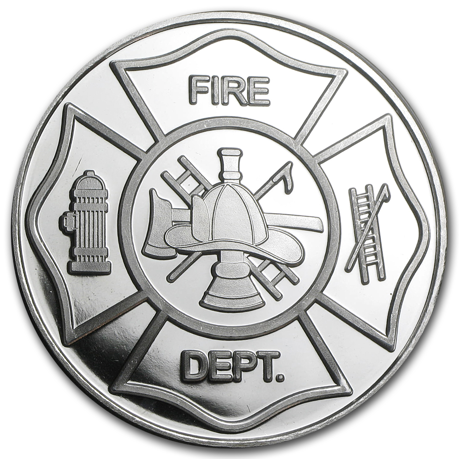 1 oz Silver Round - Fire Department