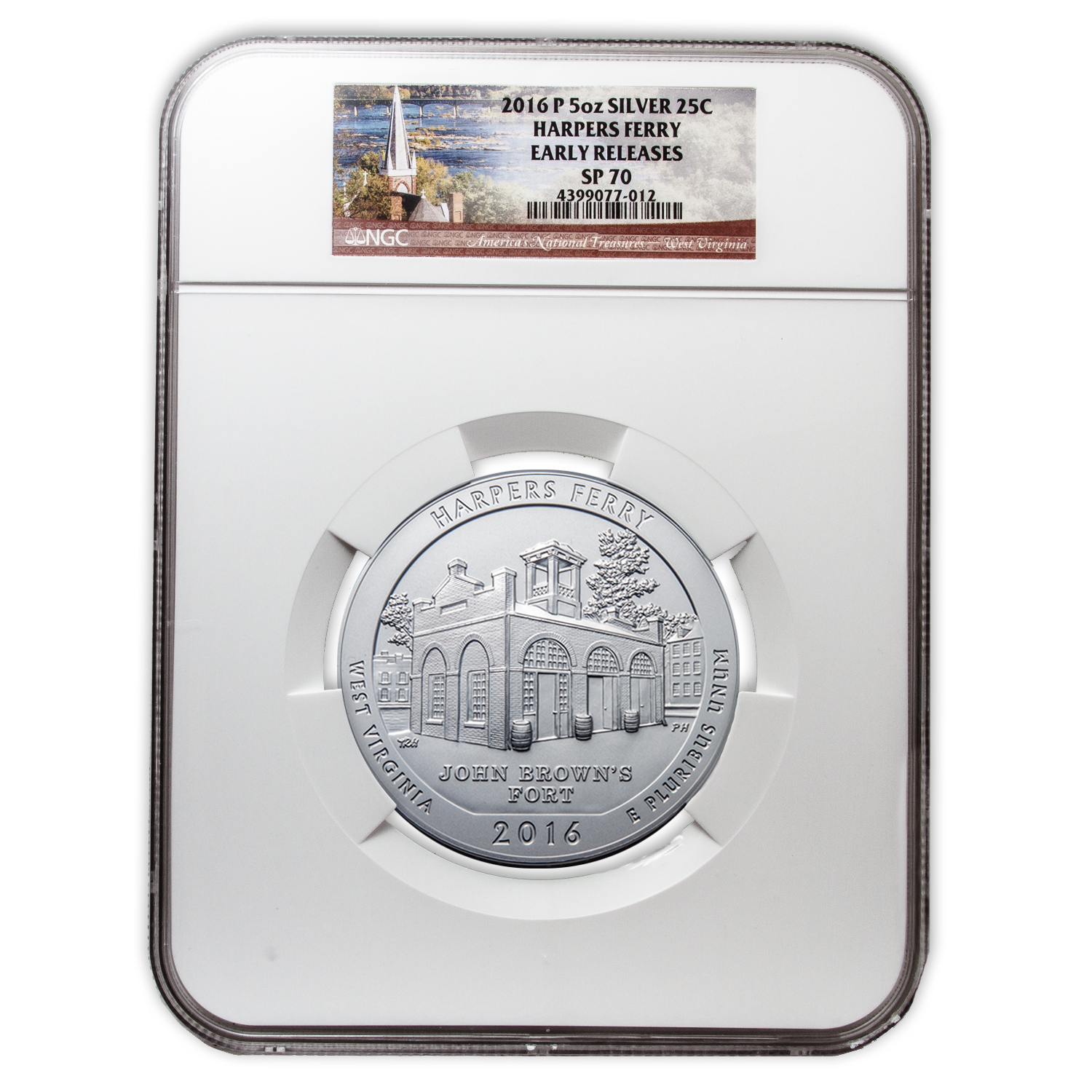 2016-P 5 oz Silver ATB Harpers Ferry SP-70 NGC (Early Release)