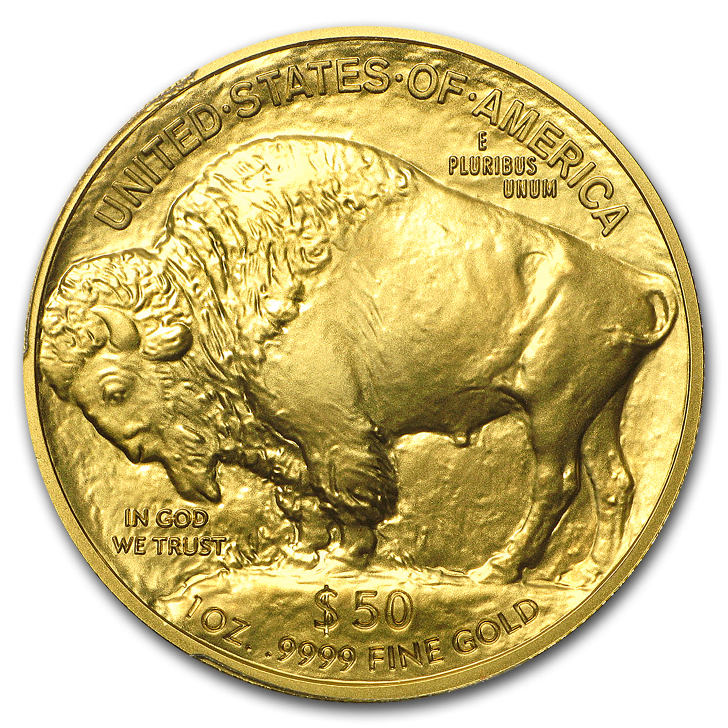 2008-W 1 oz Gold Buffalo SP/MS-70 PCGS