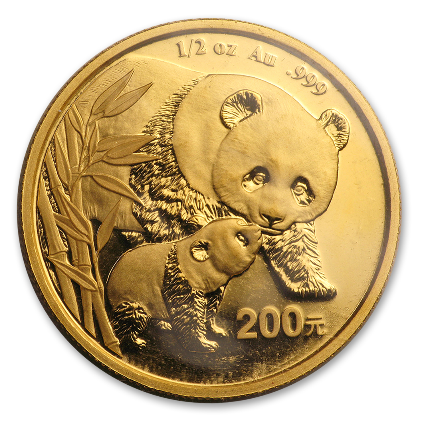 2004 China 1/2 oz Gold Panda BU (Sealed)