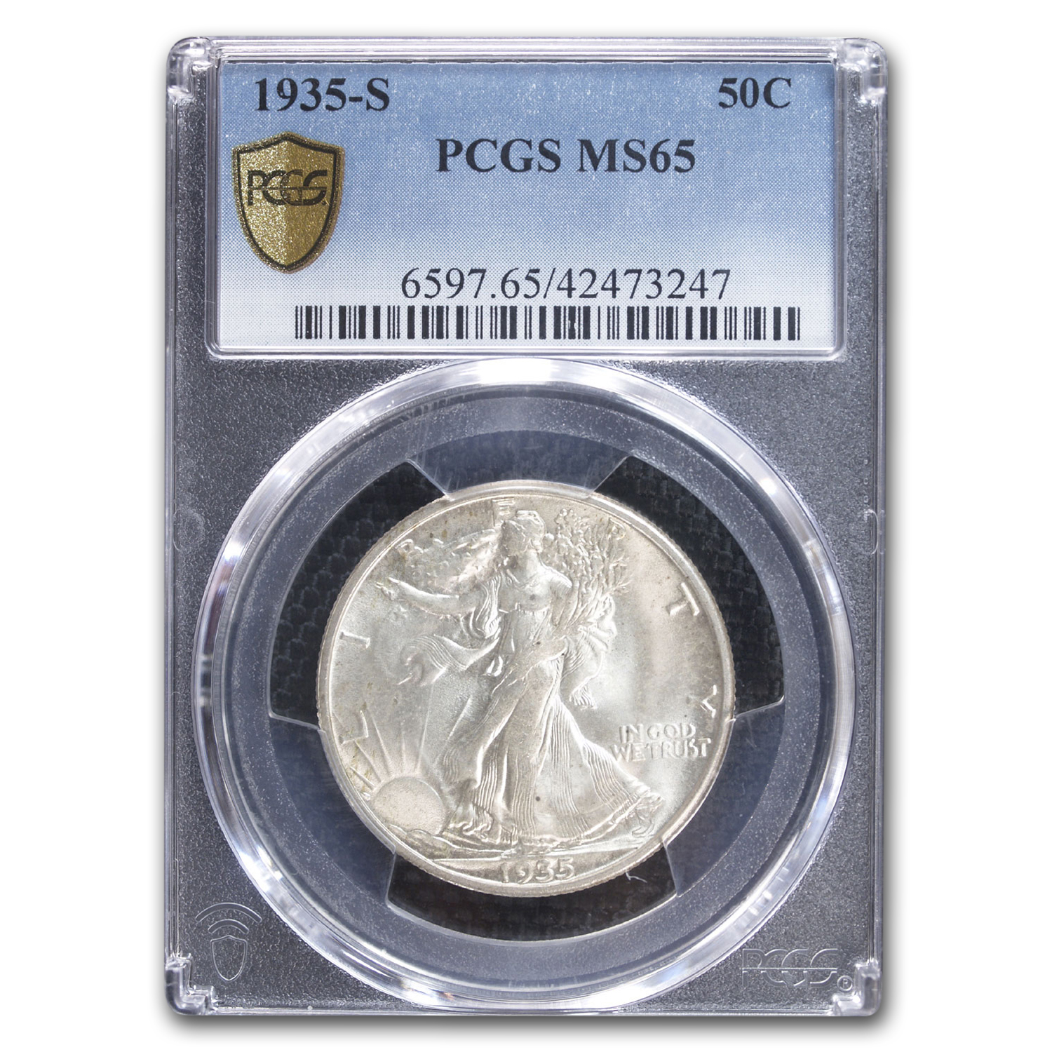 1935-S Walking Liberty Half Dollar MS-65 PCGS