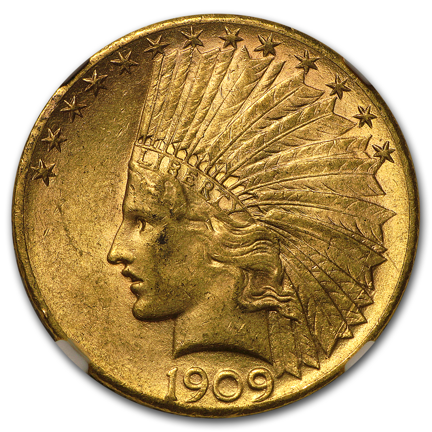 1909-S $10 Indian Gold Eagle MS-60 NGC