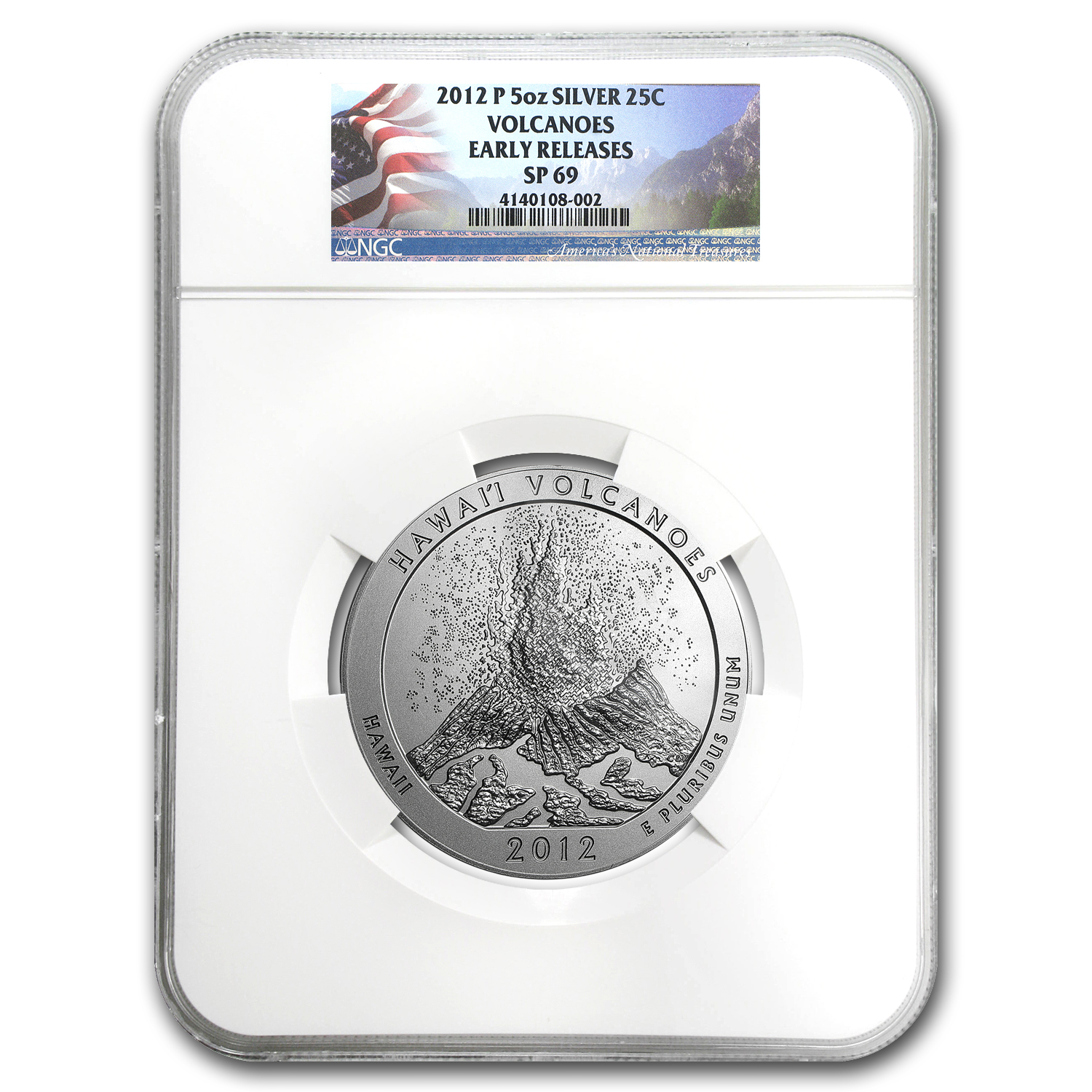 2012-P 5 oz Silver ATB Hawaii SP-69 NGC (ER)
