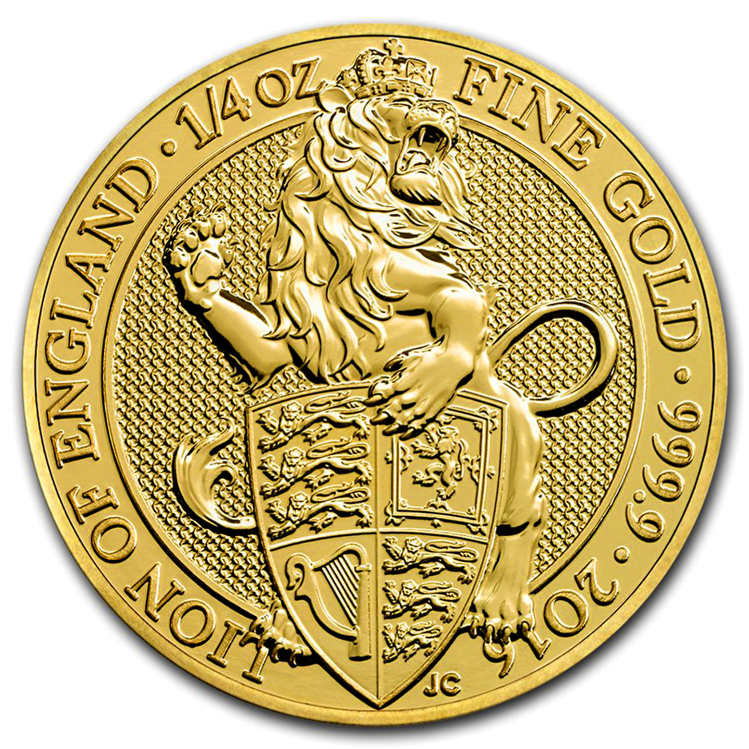 2016 Great Britain 1/4 oz Gold Queen's Beasts (The Lion)