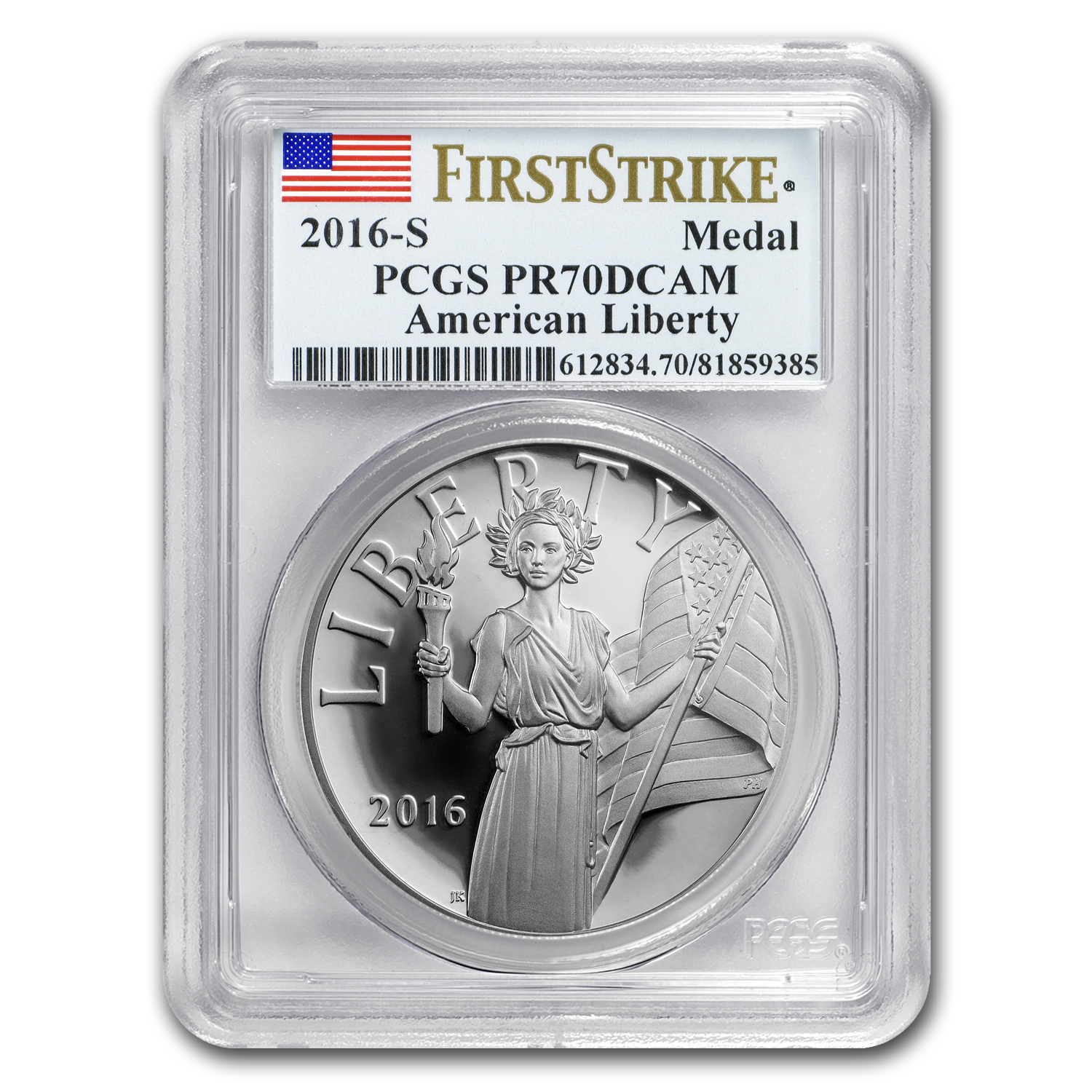 2016-S American Liberty Silver Medal PR-70 PCGS (FS)