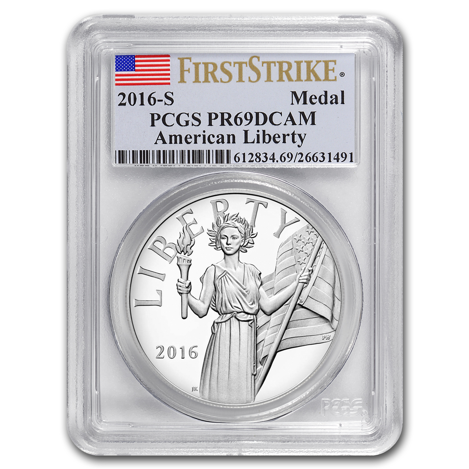 2016-S American Liberty Silver Medal PR-69 PCGS (FS)